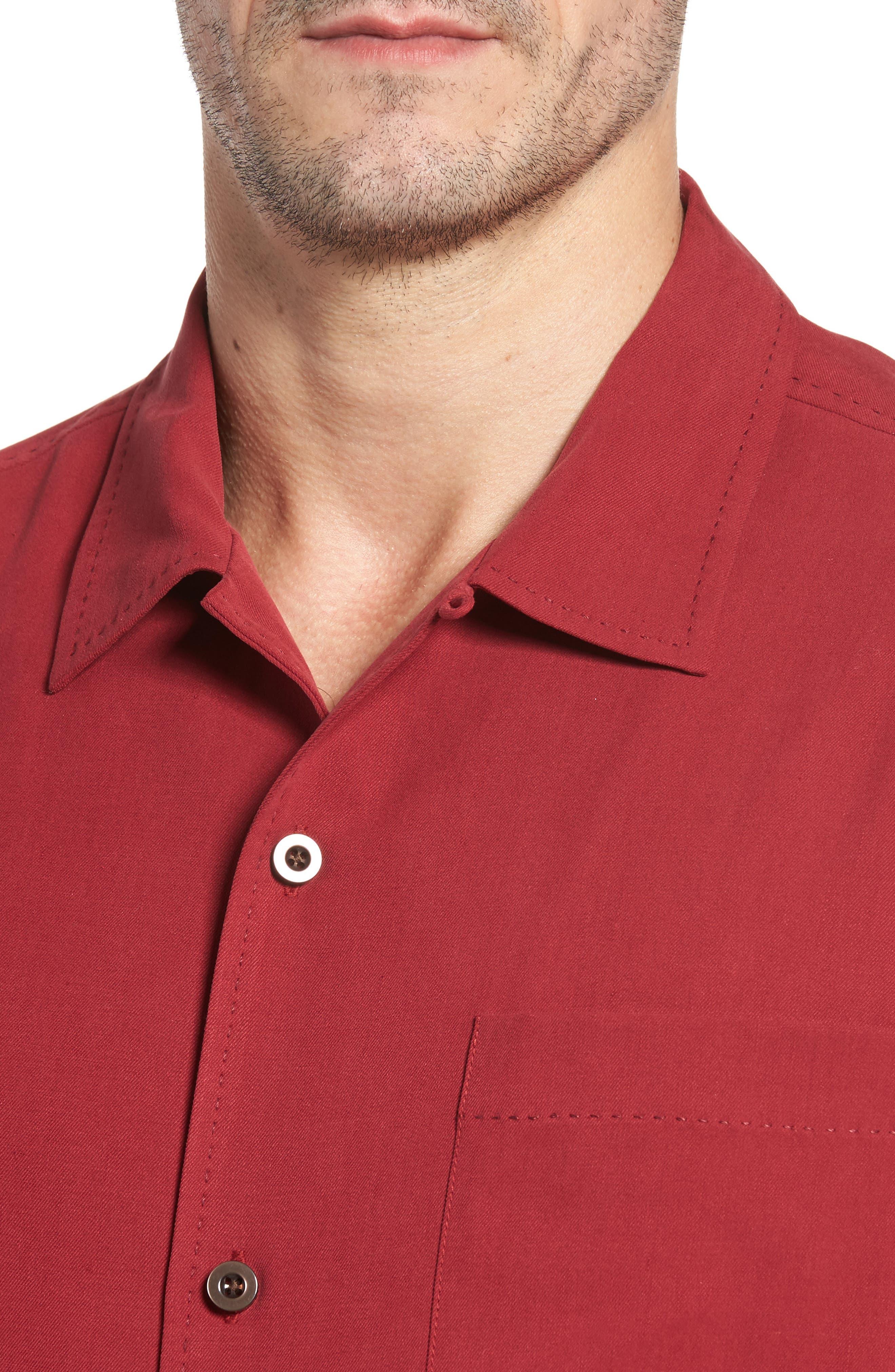 Alternate Image 4  - Tommy Bahama Catalina Twill Short Sleeve Silk Camp Shirt