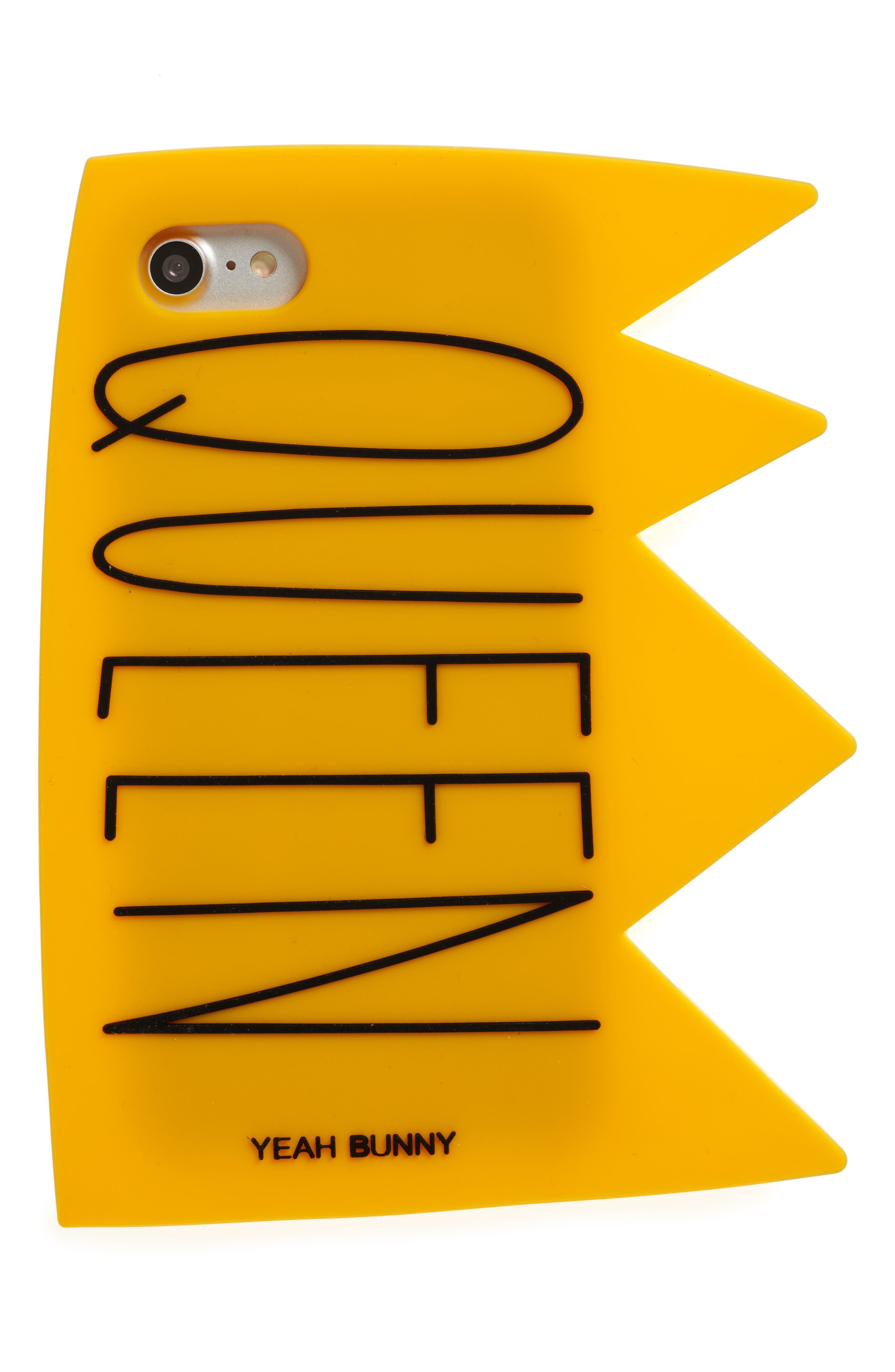 Queen iPhone 7 Case,                         Main,                         color, Yellow/ Black
