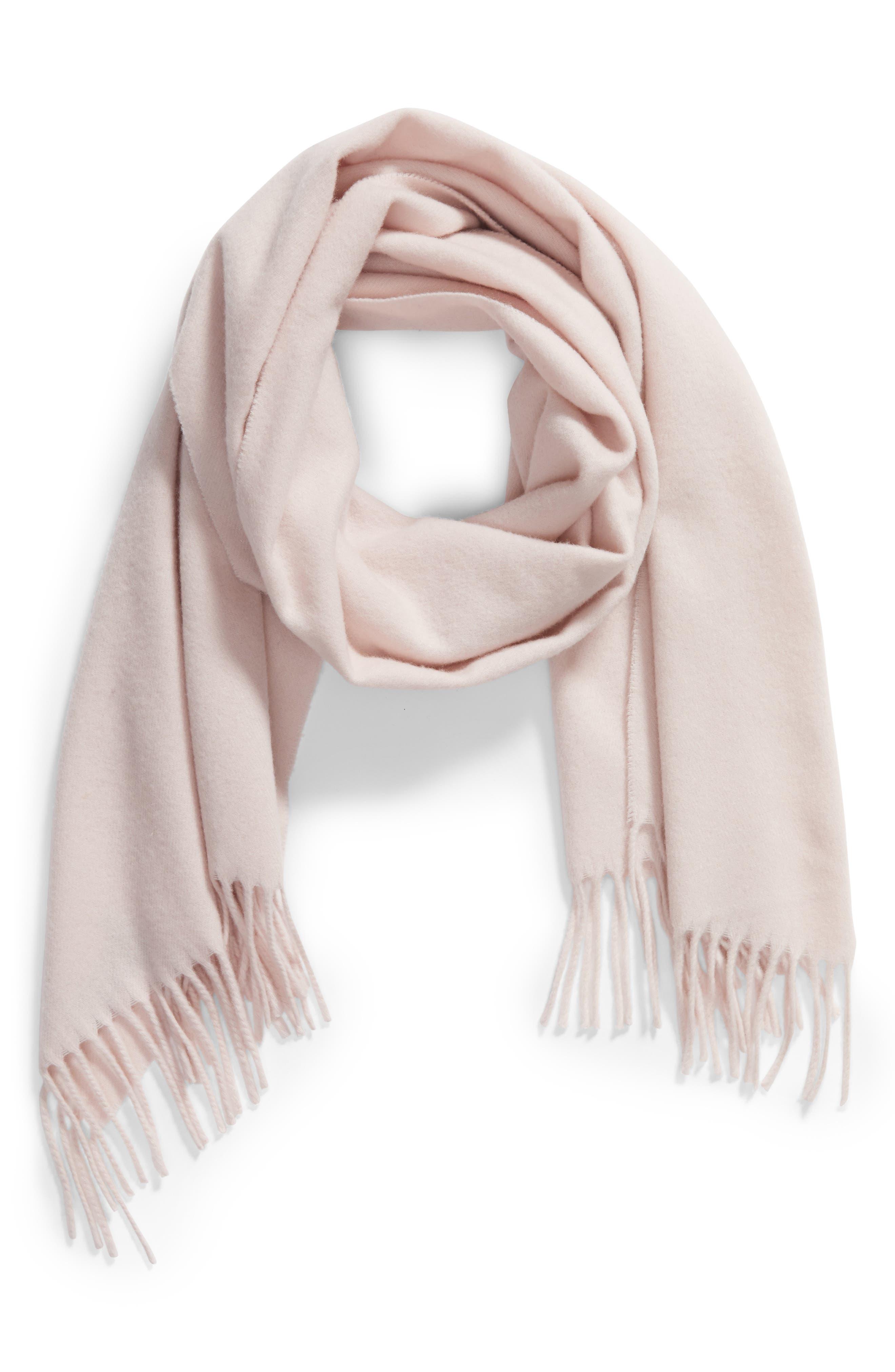 Classic Wool Scarf,                         Main,                         color, Peach