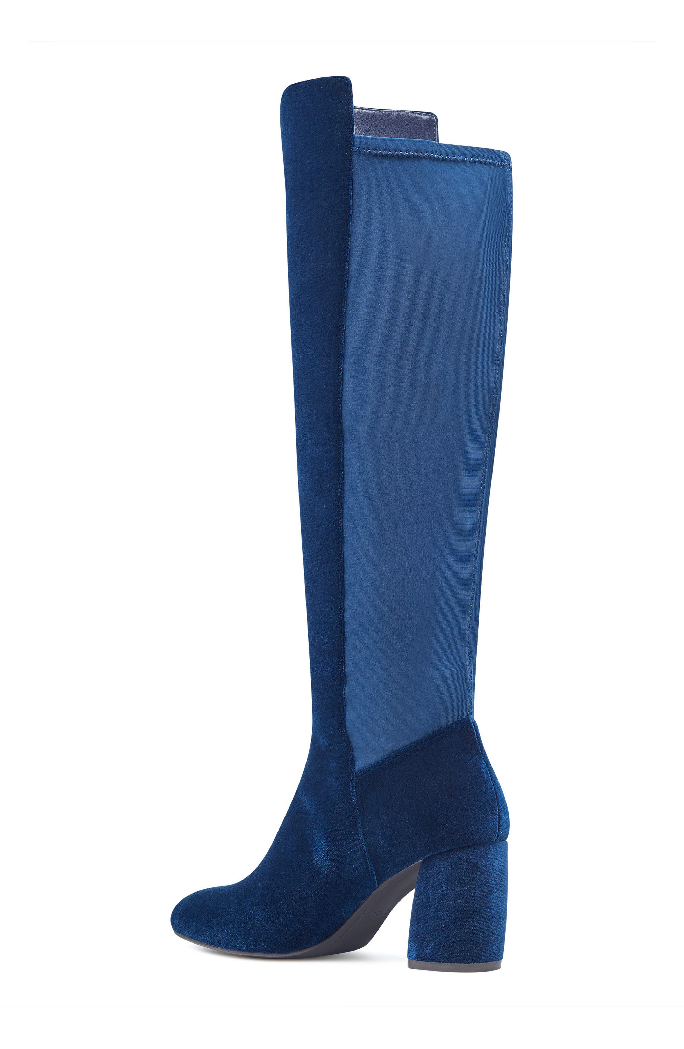 Kerianna Knee High Boot,                             Alternate thumbnail 2, color,                             Navy Fabric