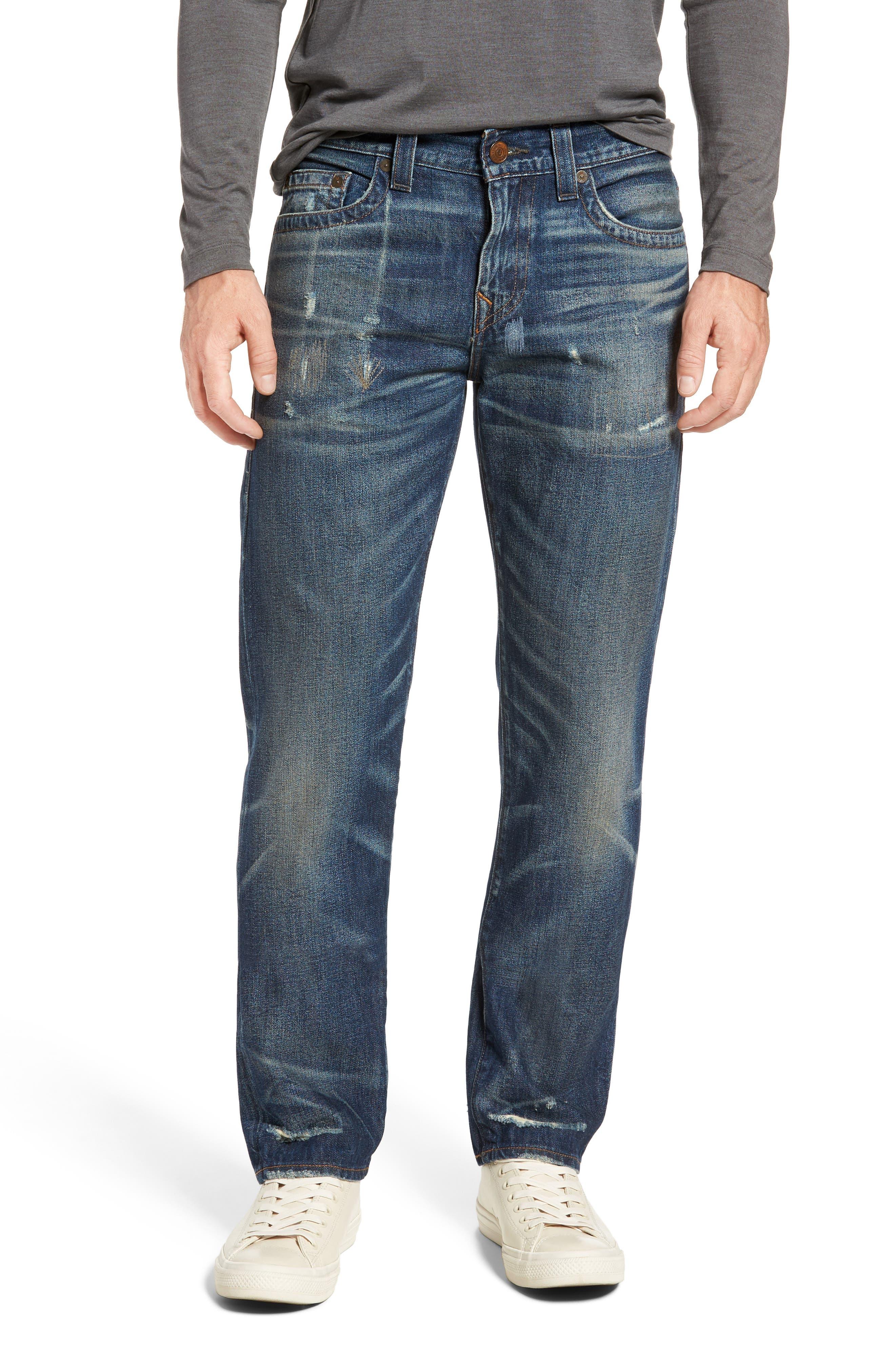 True Religion Brand Jeans Geno Straight Leg Jeans (Street Dweller)