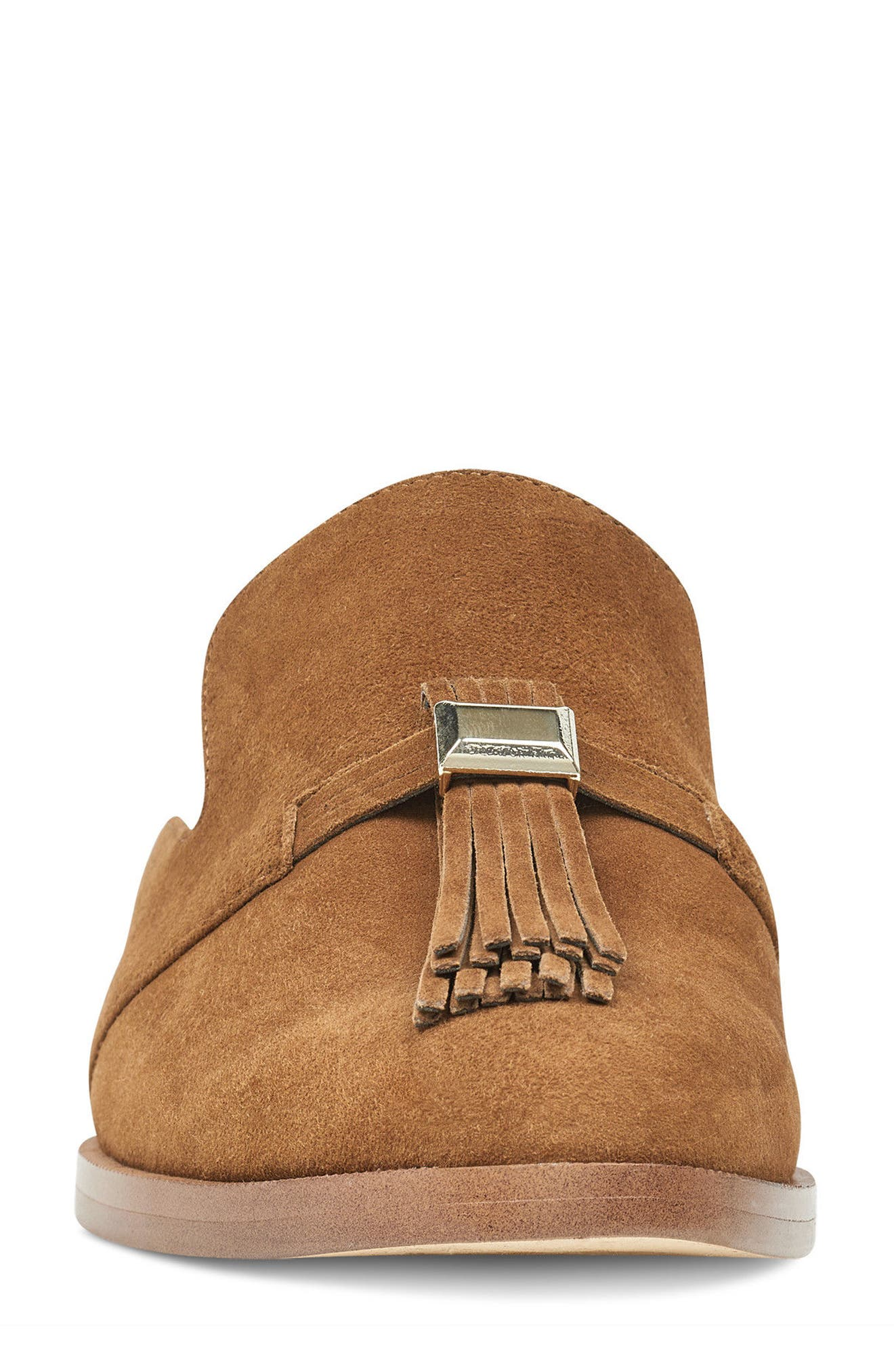 Huebart Loafer Mule,                             Alternate thumbnail 4, color,                             Brown Suede