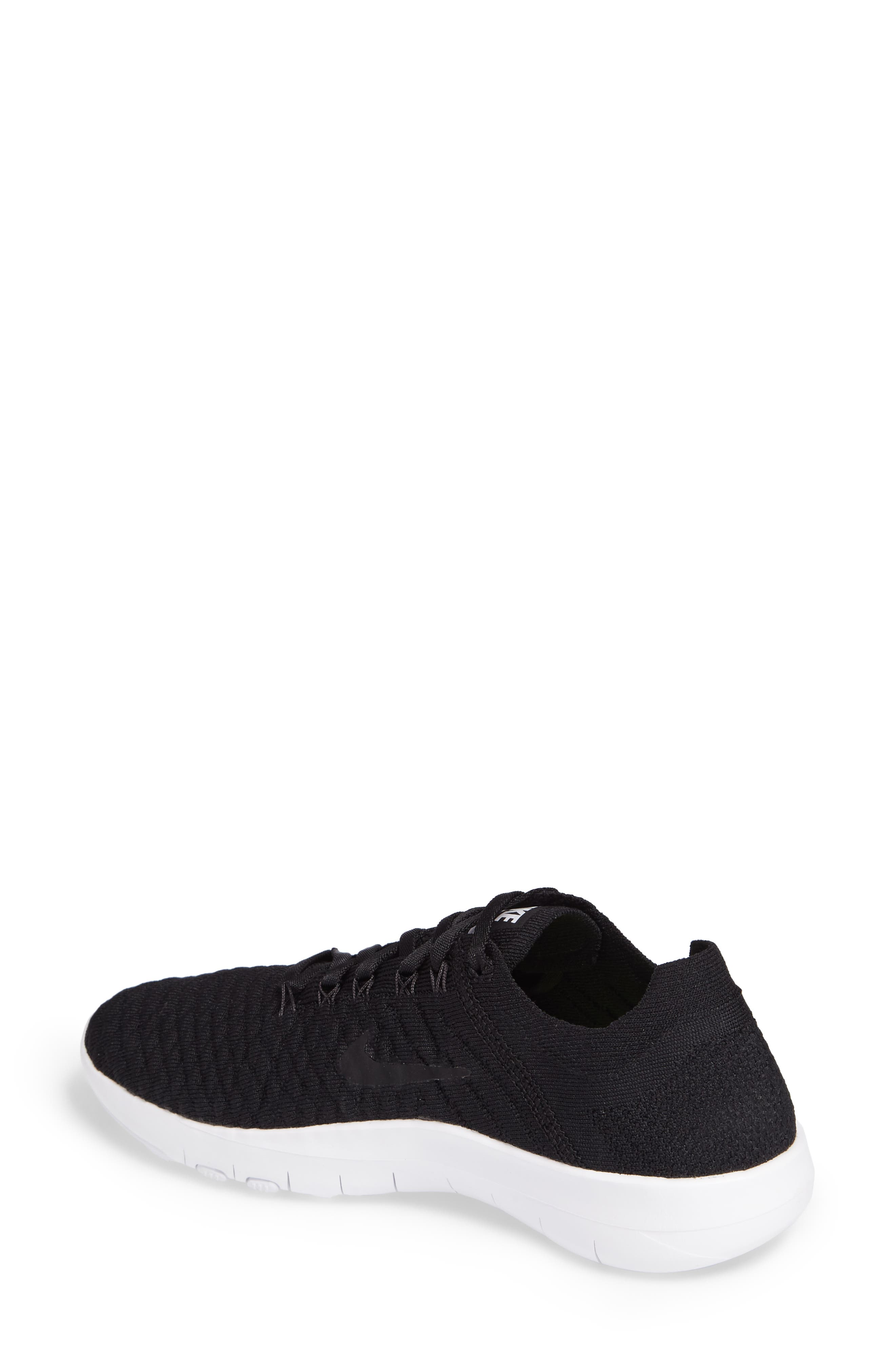 Free TR Flyknit 2 Training Shoe,                             Alternate thumbnail 2, color,                             Black/ Black/ White