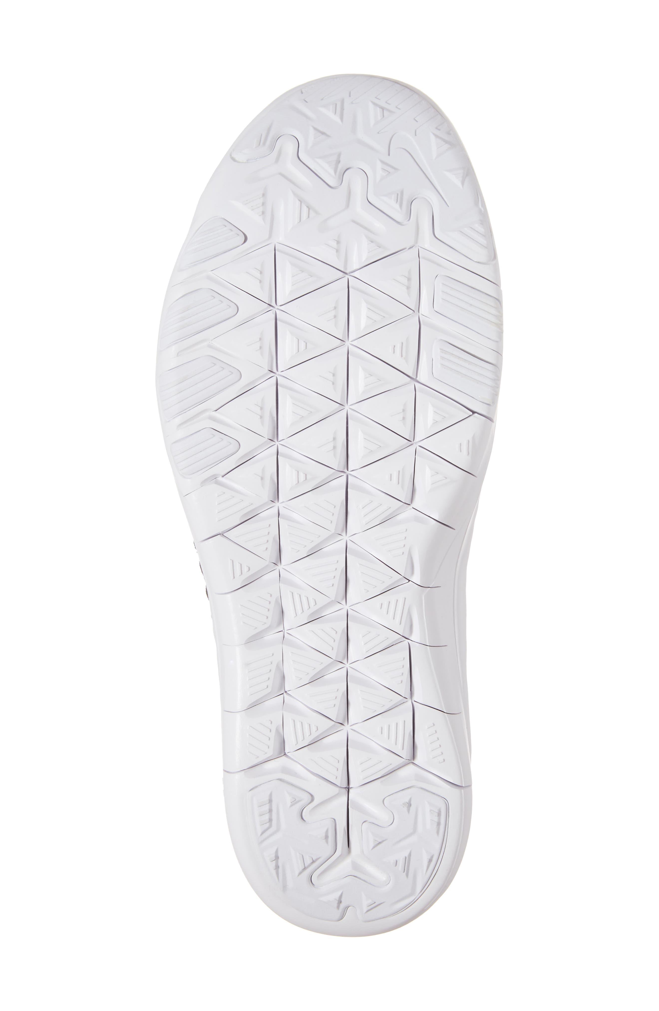 Free TR Flyknit 2 Training Shoe,                             Alternate thumbnail 6, color,                             Black/ Black/ White