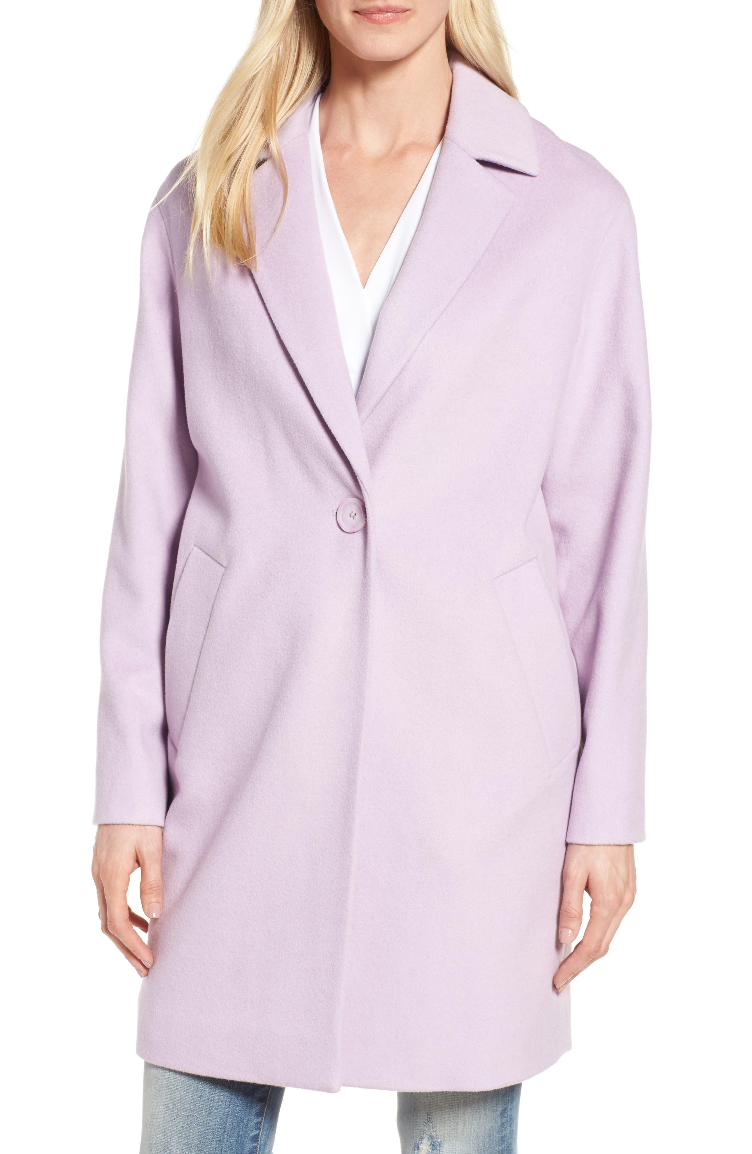 Wool Blend Coat,                             Main thumbnail 1, color,                             Icy Lavendar