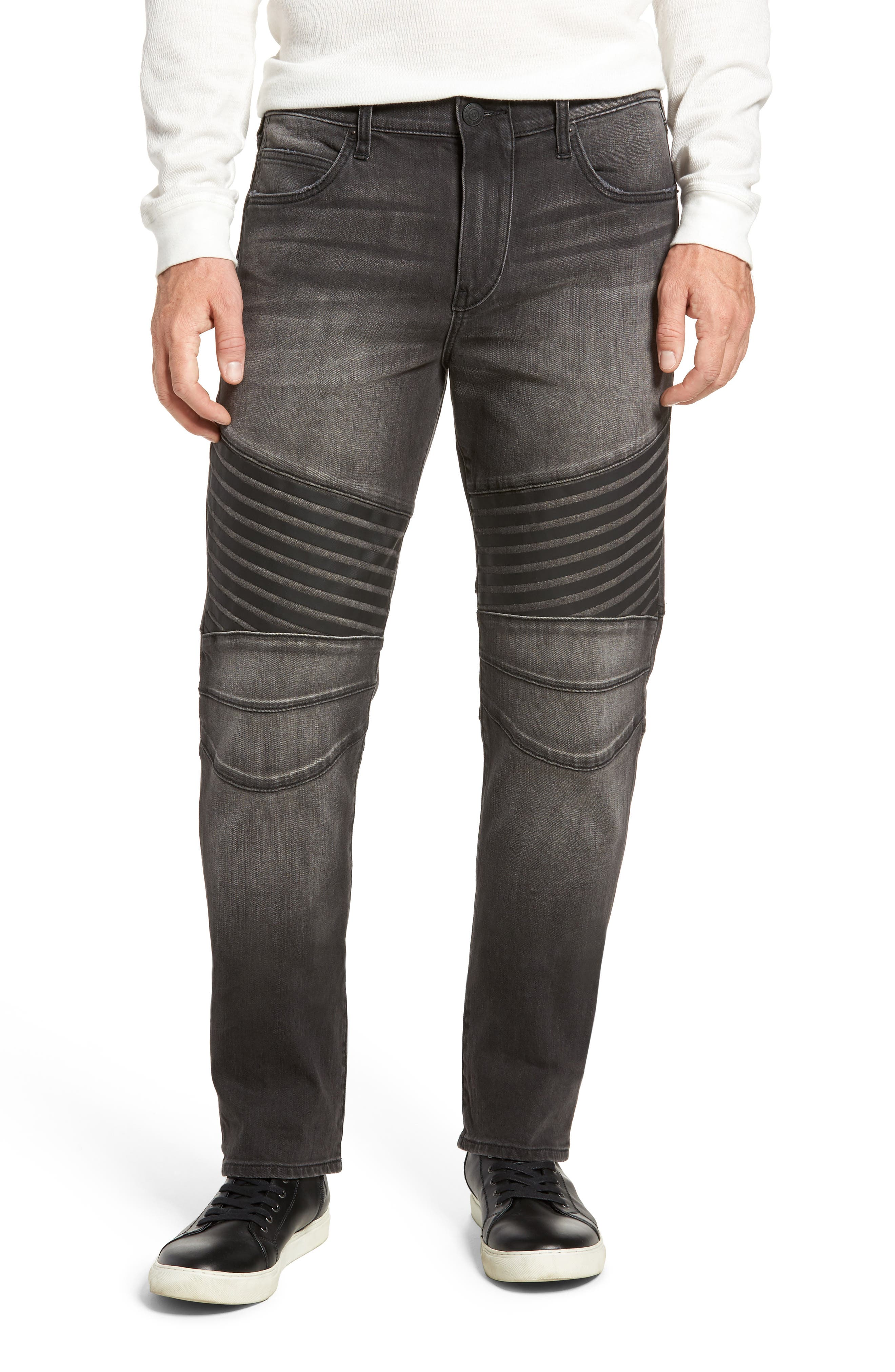 Alternate Image 1 Selected - True Religion Brand Jeans Geno Straight Leg Jeans (Dark Rebel Race)