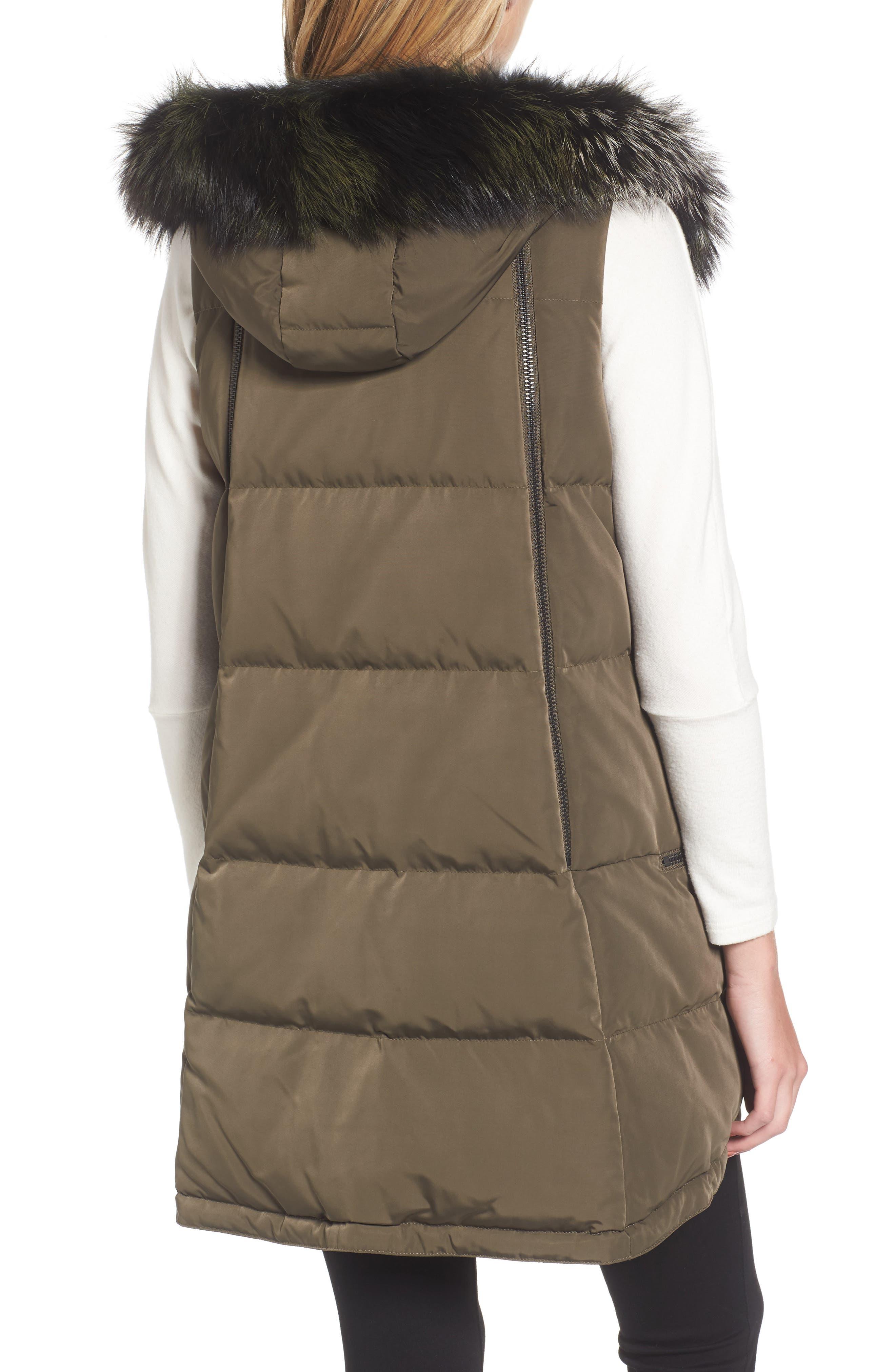 Alternate Image 2  - Derek Lam 10 Crosby Vest with Genuine Fox Fur
