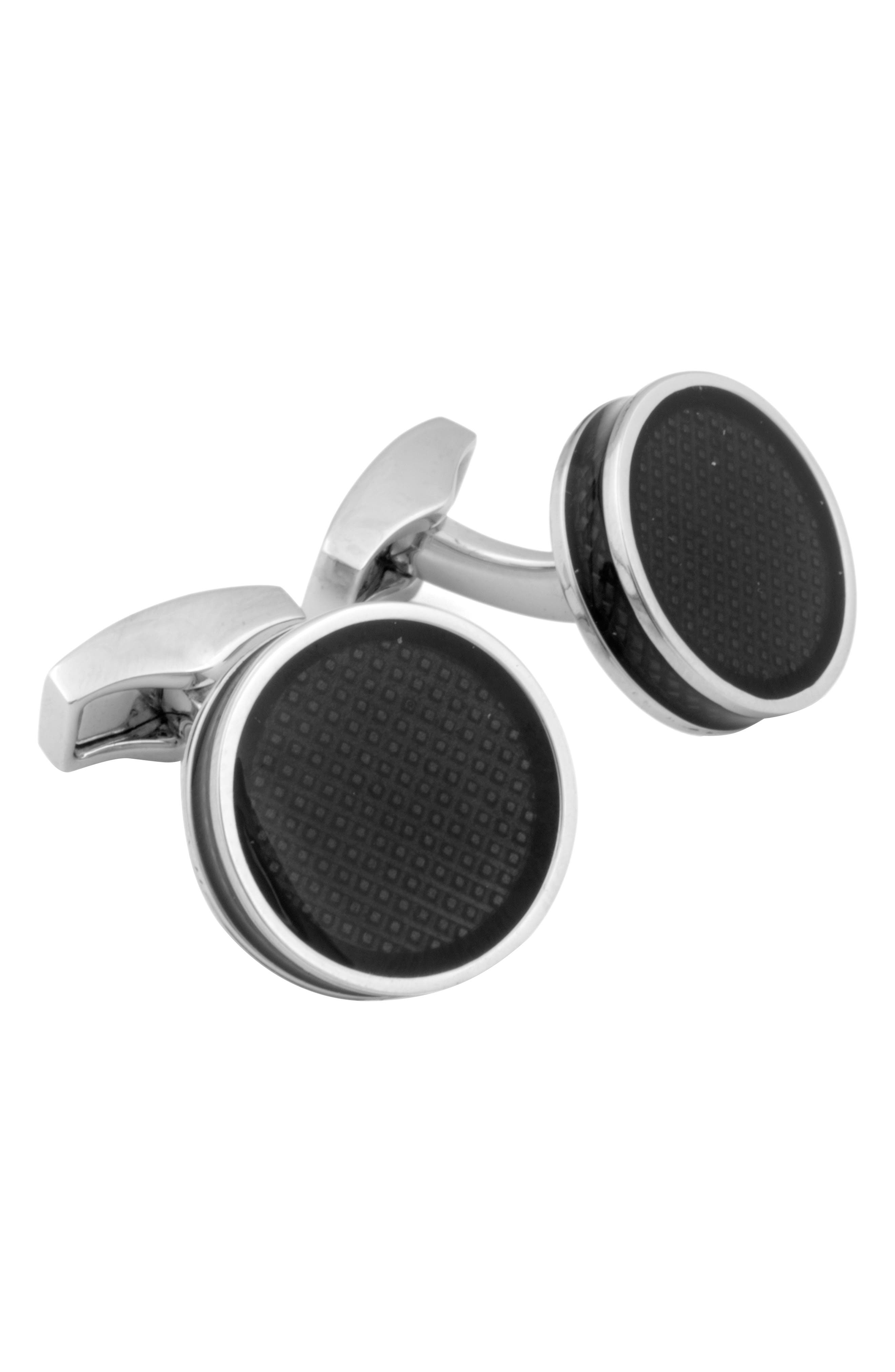 Tablet Ice Cuff LInks,                             Main thumbnail 1, color,                             Black