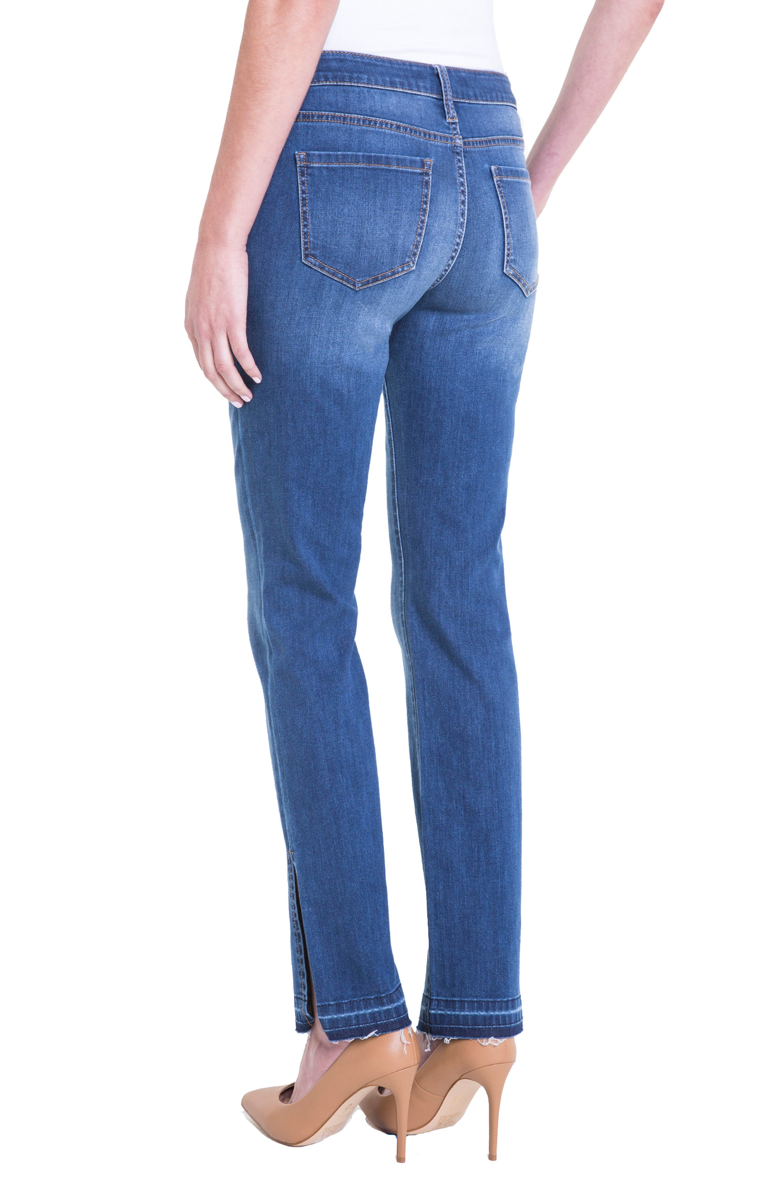 Alternate Image 5  - Liverpool Jeans Company Tabitha Release Hem Straight Leg Jeans (Montauck Mid)