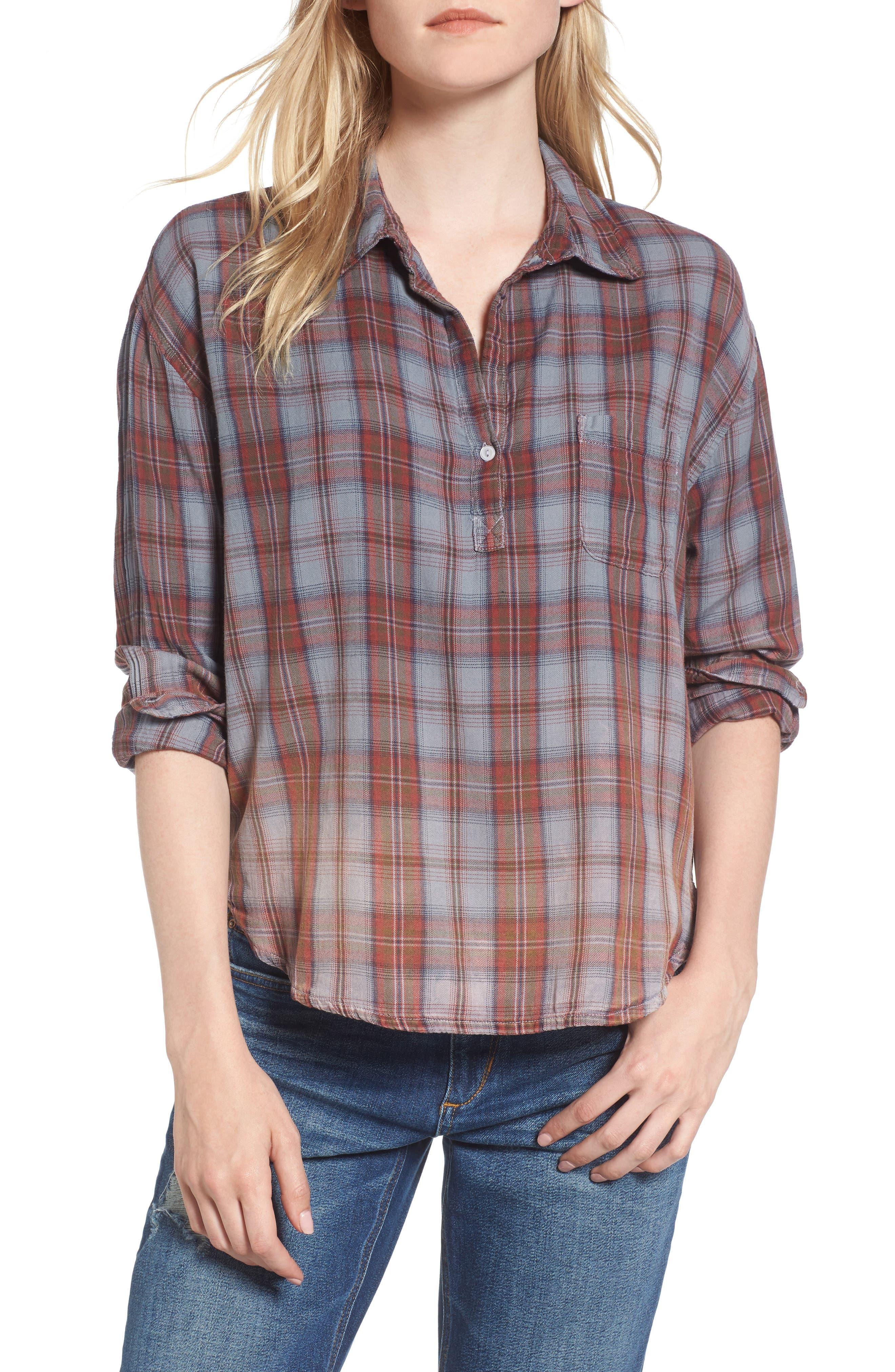 Alternate Image 1 Selected - Sundry Plaid Pocket Shirt