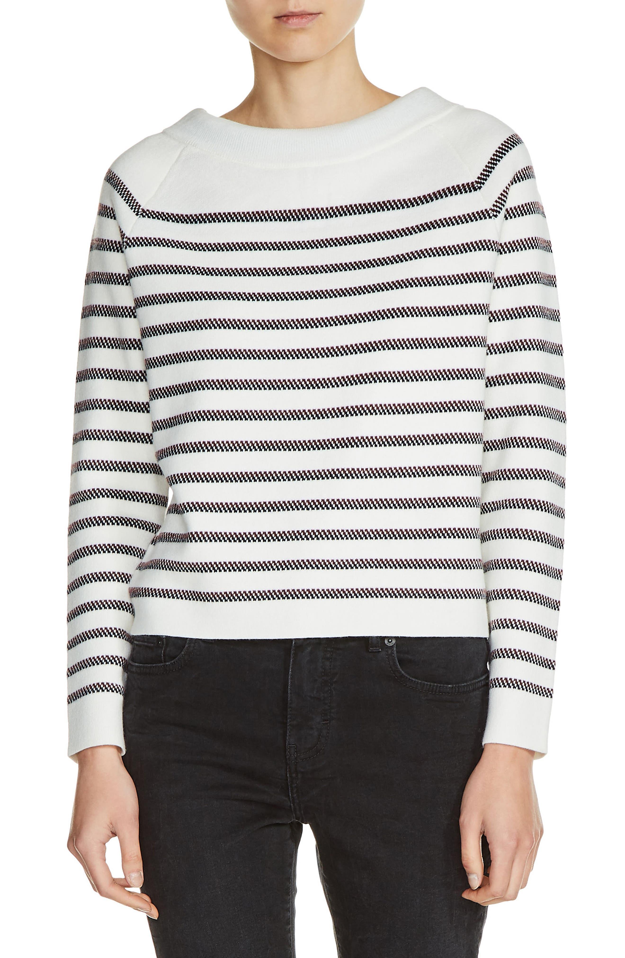 Main Image - maje Bow Back Stripe Sweater