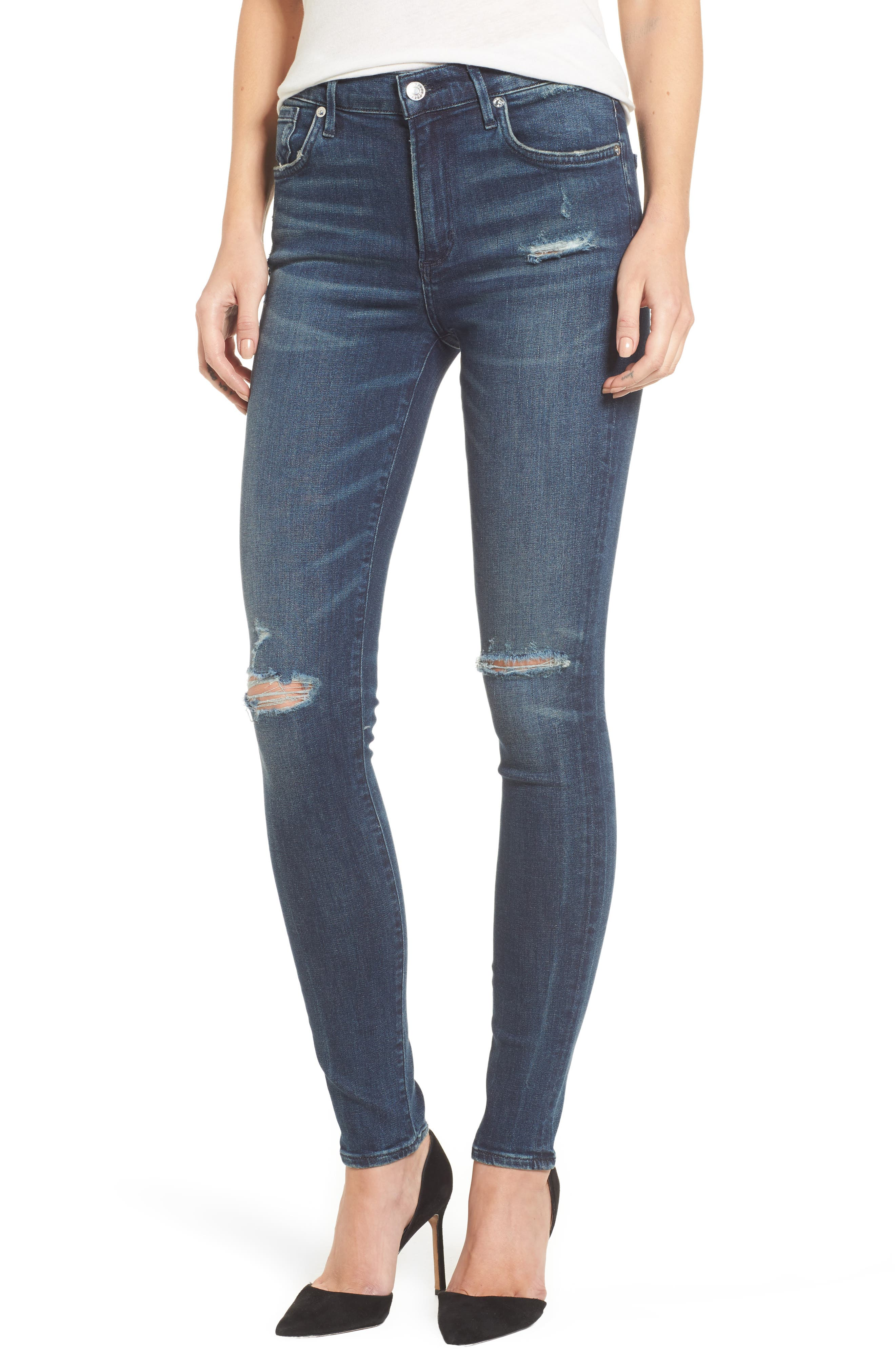 Sophie High Waist Skinny Jeans,                             Main thumbnail 1, color,                             Dare