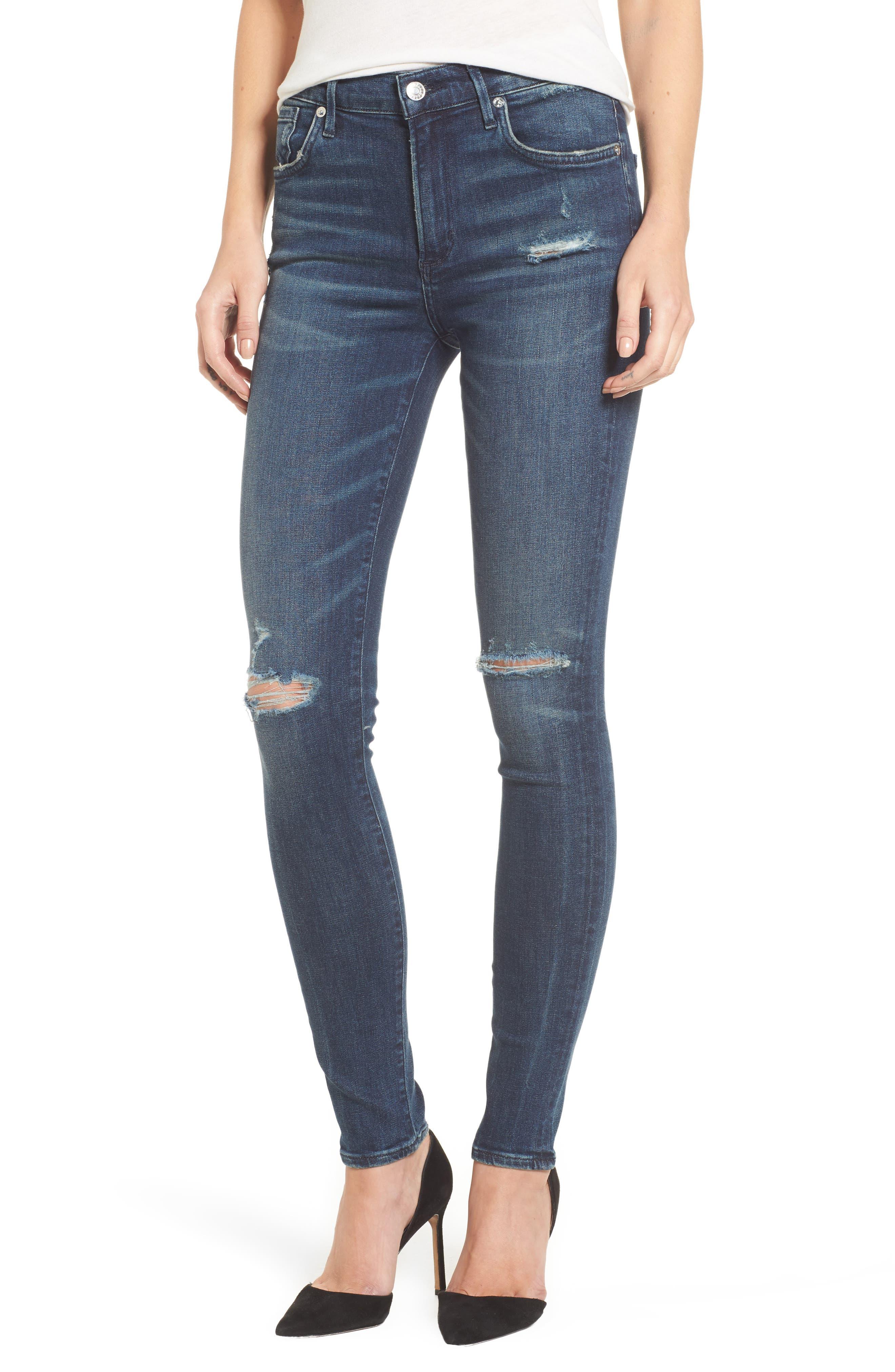Alternate Image 1 Selected - AGOLDE Sophie High Waist Skinny Jeans
