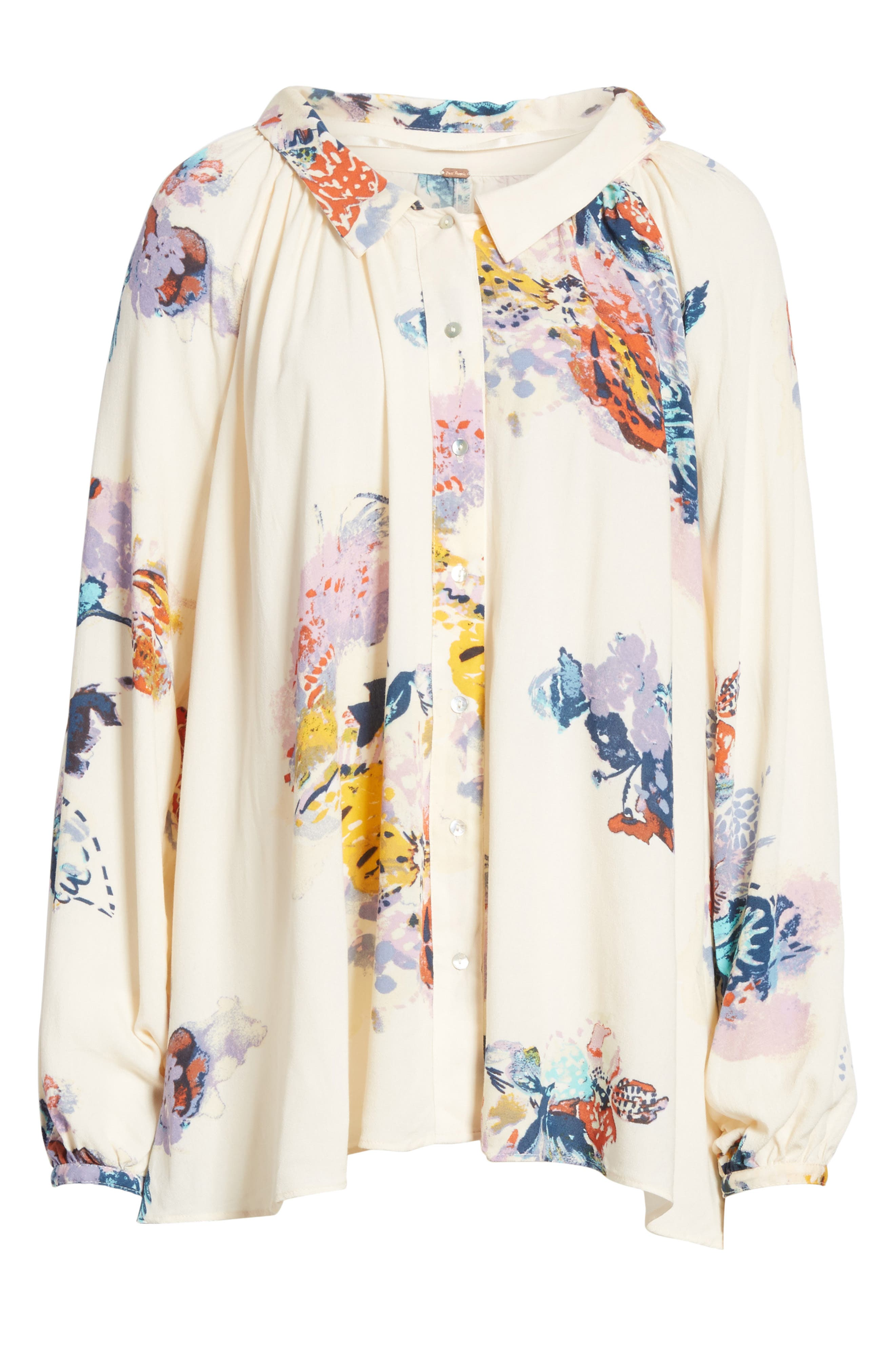 Meadow Lark Blouse,                             Alternate thumbnail 6, color,                             Cream