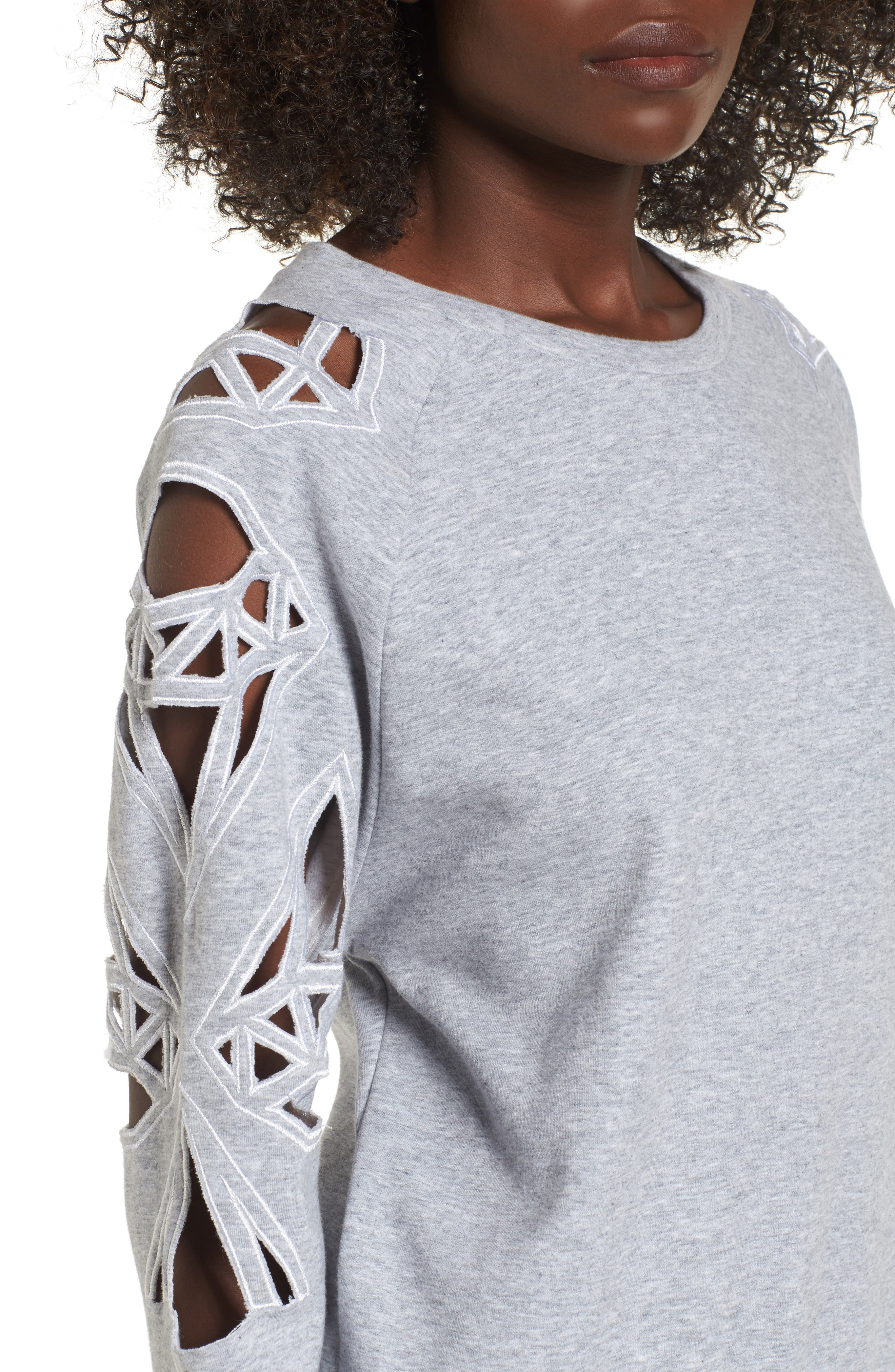 Alternate Image 4  - Supertrash Taffic Cutout Sweatshirt