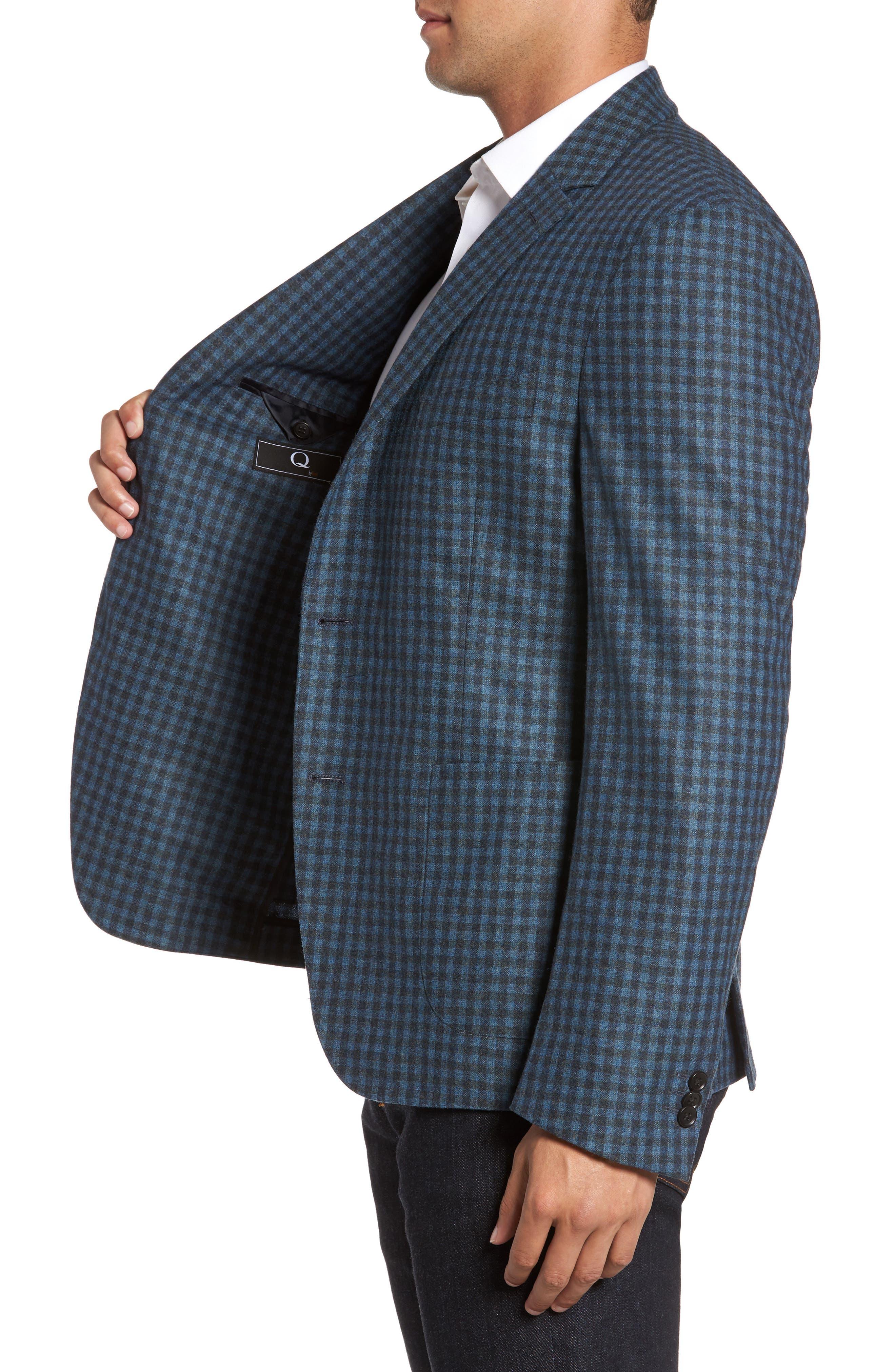 Check Wool Sport Coat,                             Alternate thumbnail 3, color,                             Blue