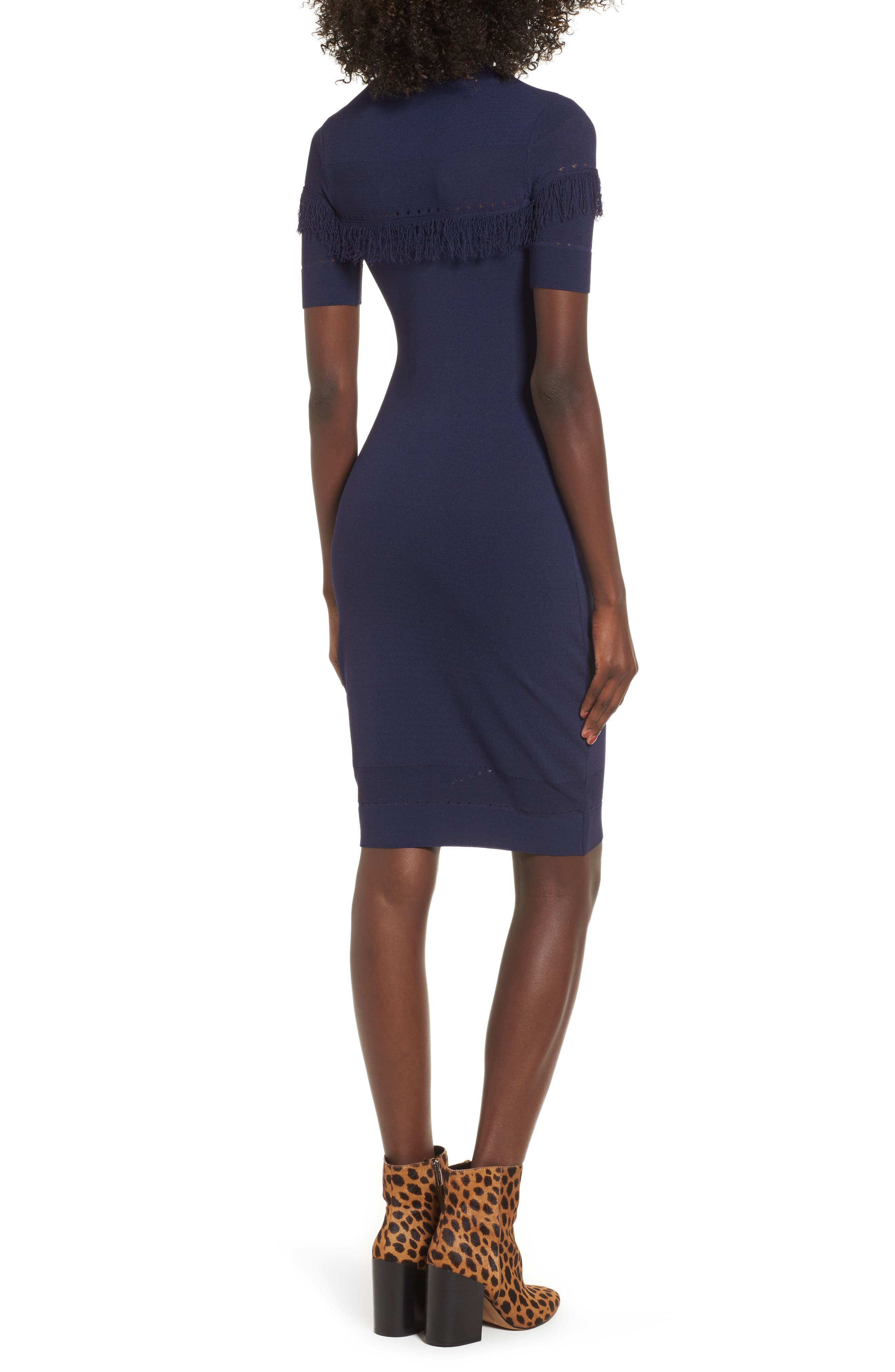 Dash Sheath Dress,                             Alternate thumbnail 2, color,                             Evening Blue