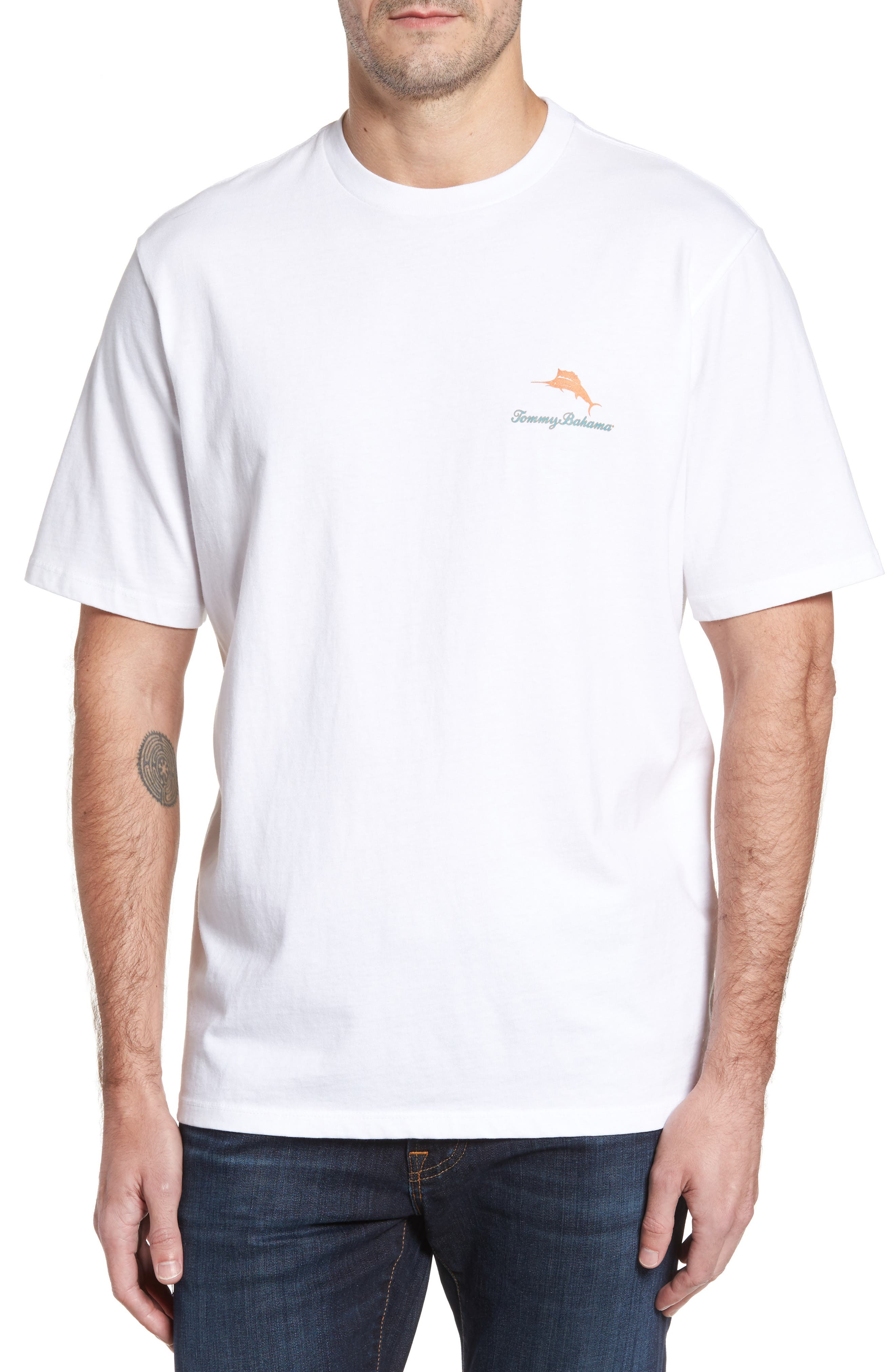 Alternate Image 2  - Tommy Bahama Saturday Shots Standard Fit T-Shirt