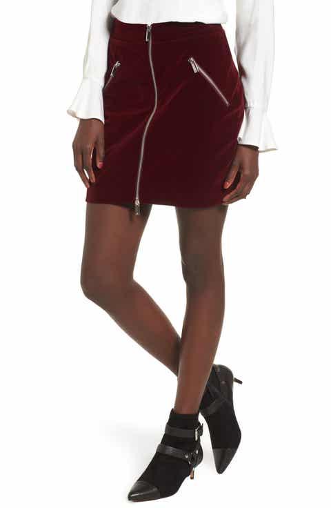 SuperTrash Selvet Velvet Miniskirt