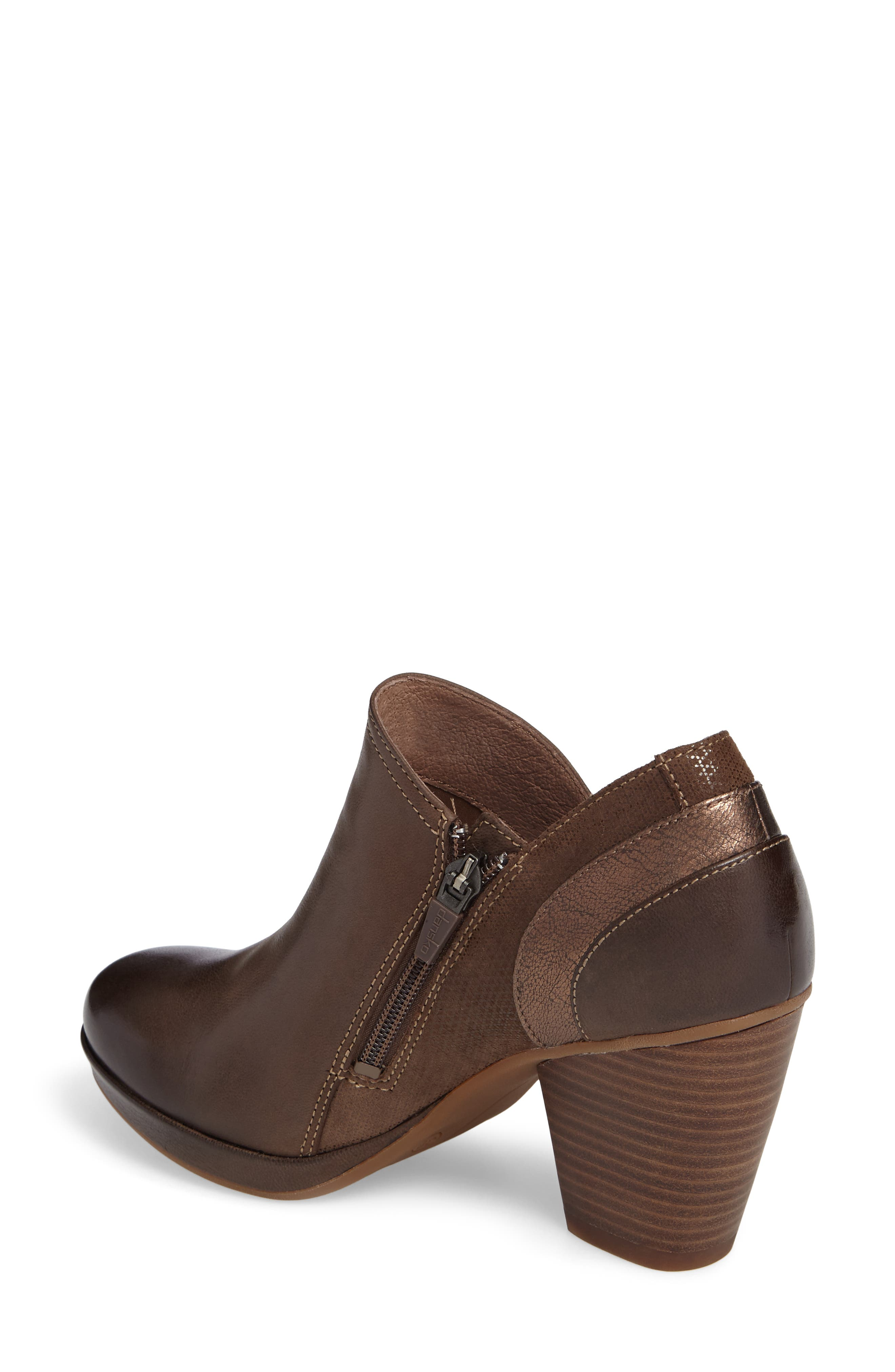 Marcia Bootie,                             Alternate thumbnail 2, color,                             Teak Burinished Leather