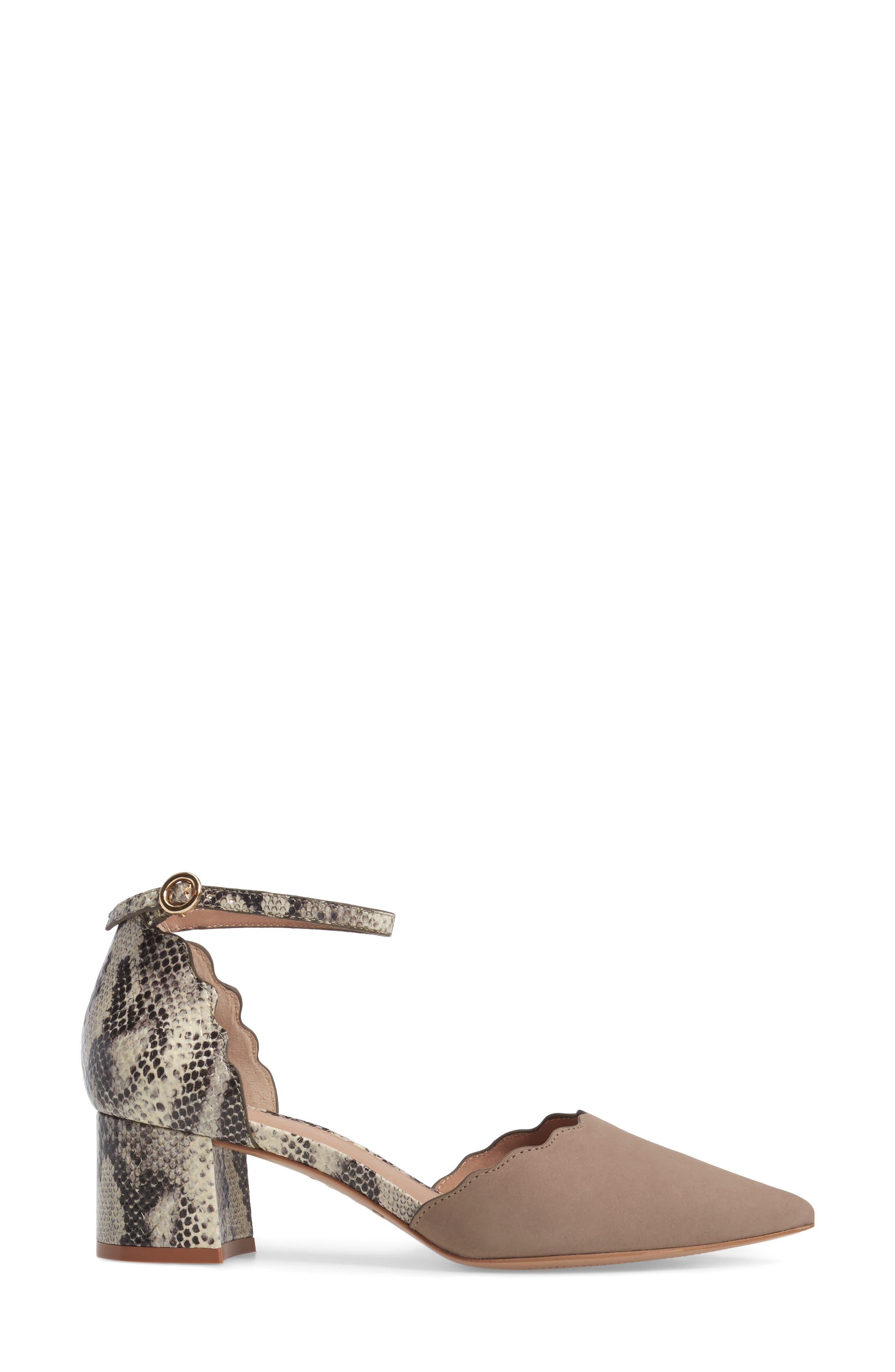 Roseia Pump,                             Alternate thumbnail 3, color,                             Taupe Snake Print