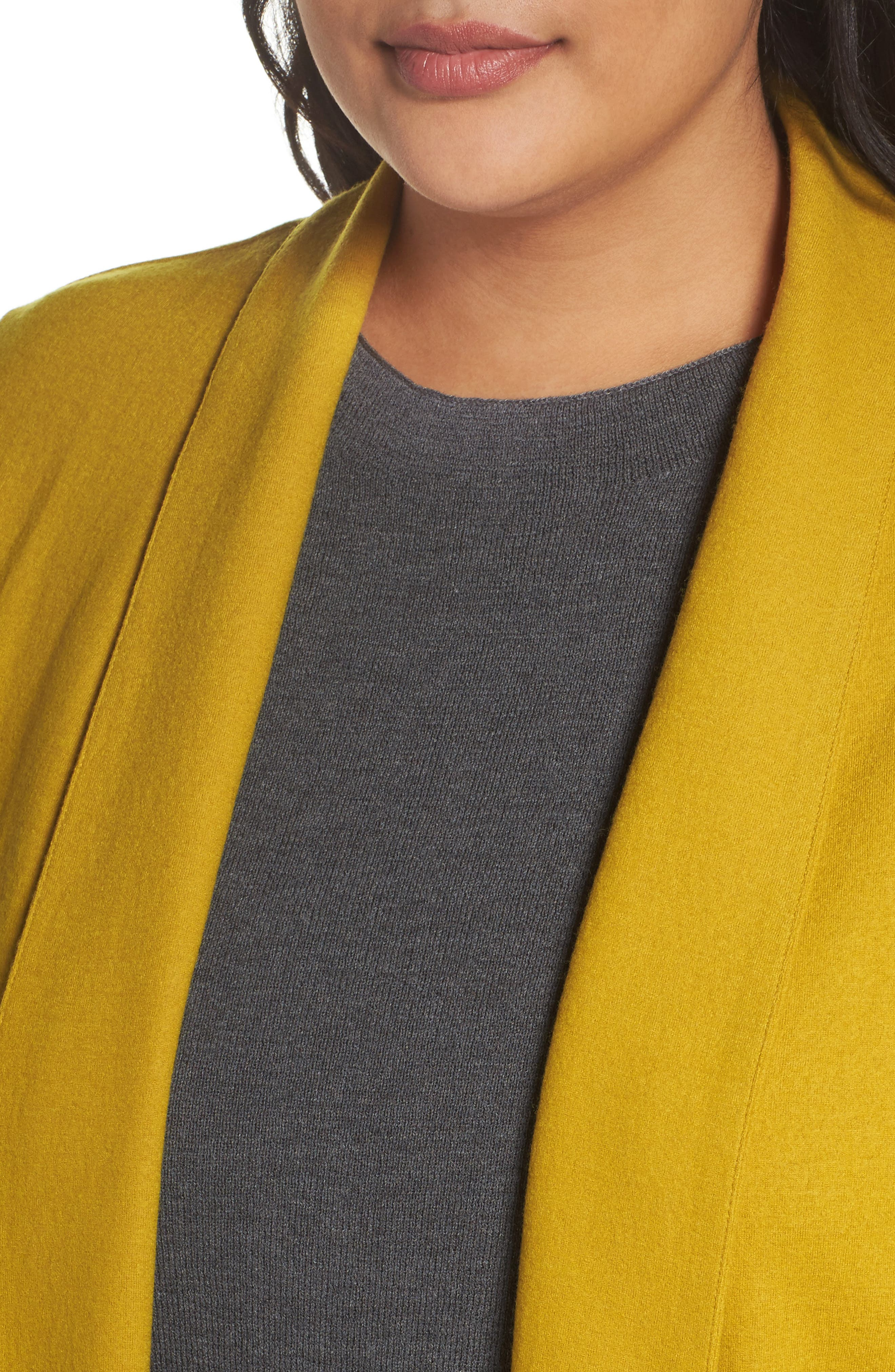 Alternate Image 4  - Eileen Fisher Boiled Wool Jacket (Plus Size)