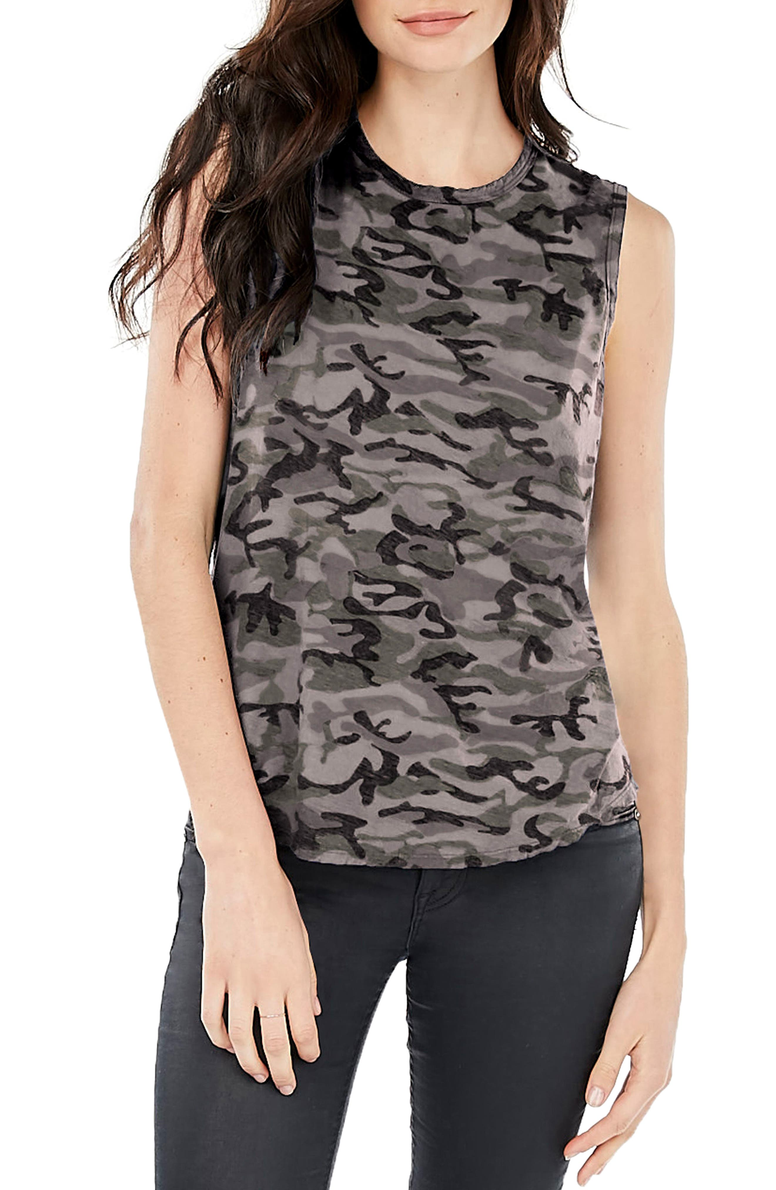 High/Low Muscle Tee,                         Main,                         color, Galvanized