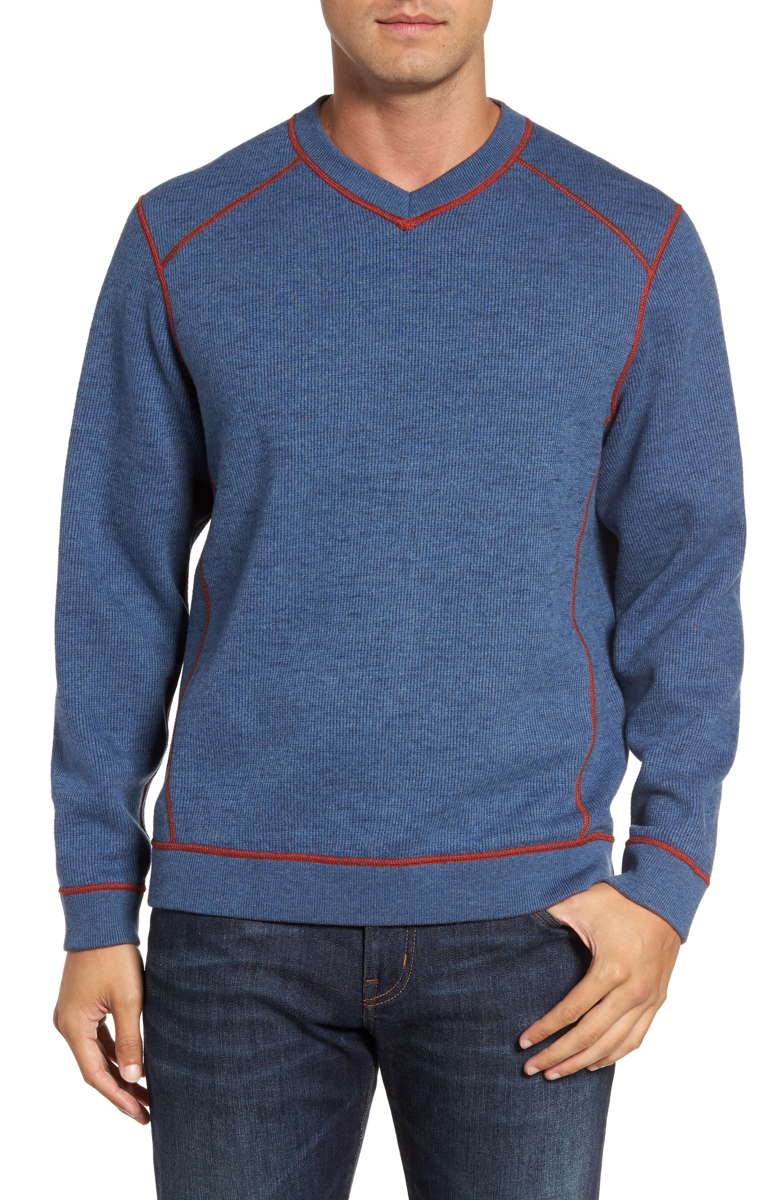 Flipside Pro Reversible Sweatshirt,                             Alternate thumbnail 4, color,                             Pompeya Heather