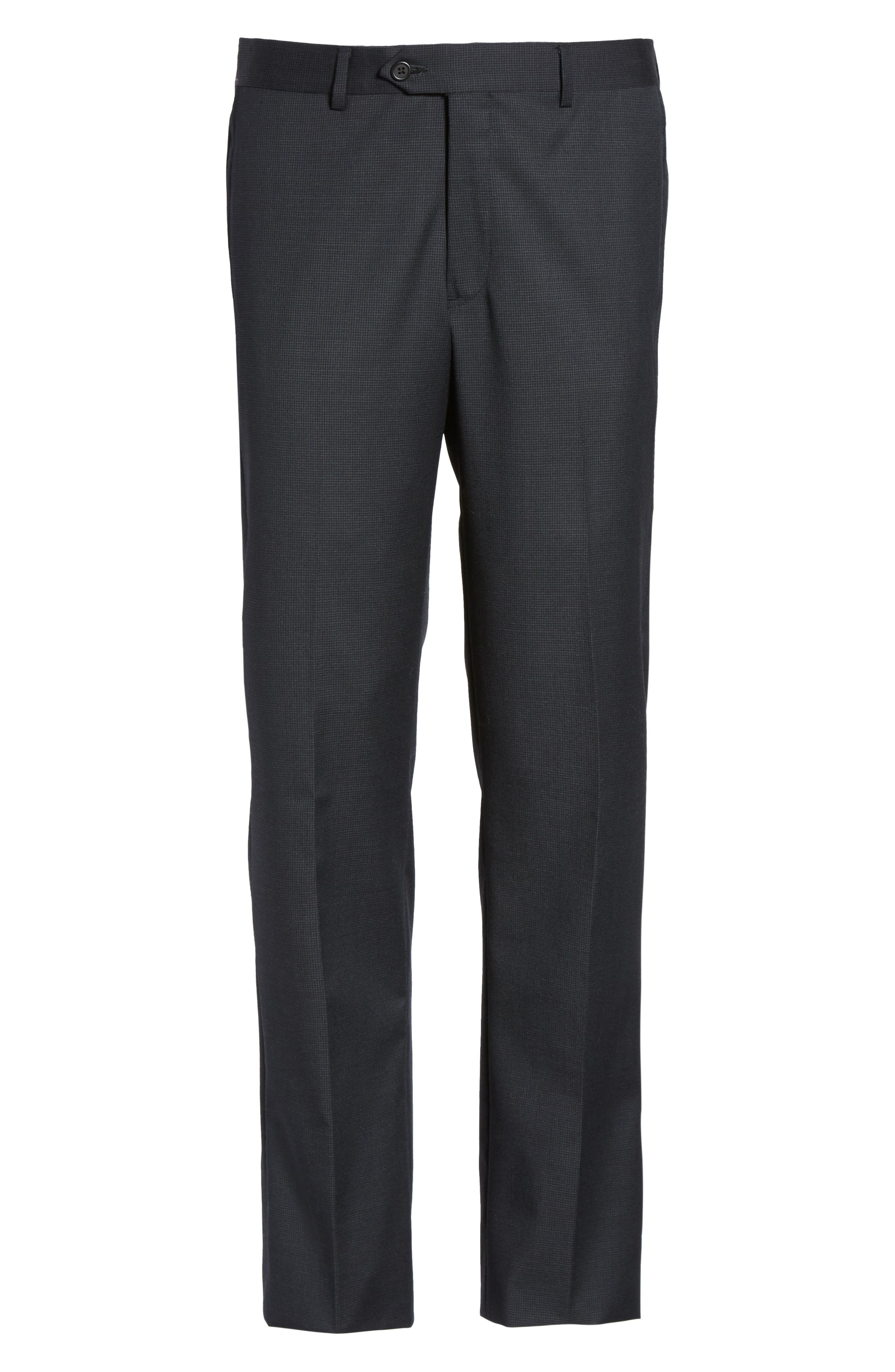 Alternate Image 6  - Nordstrom Men's Shop Flat Front Check Wool Trousers