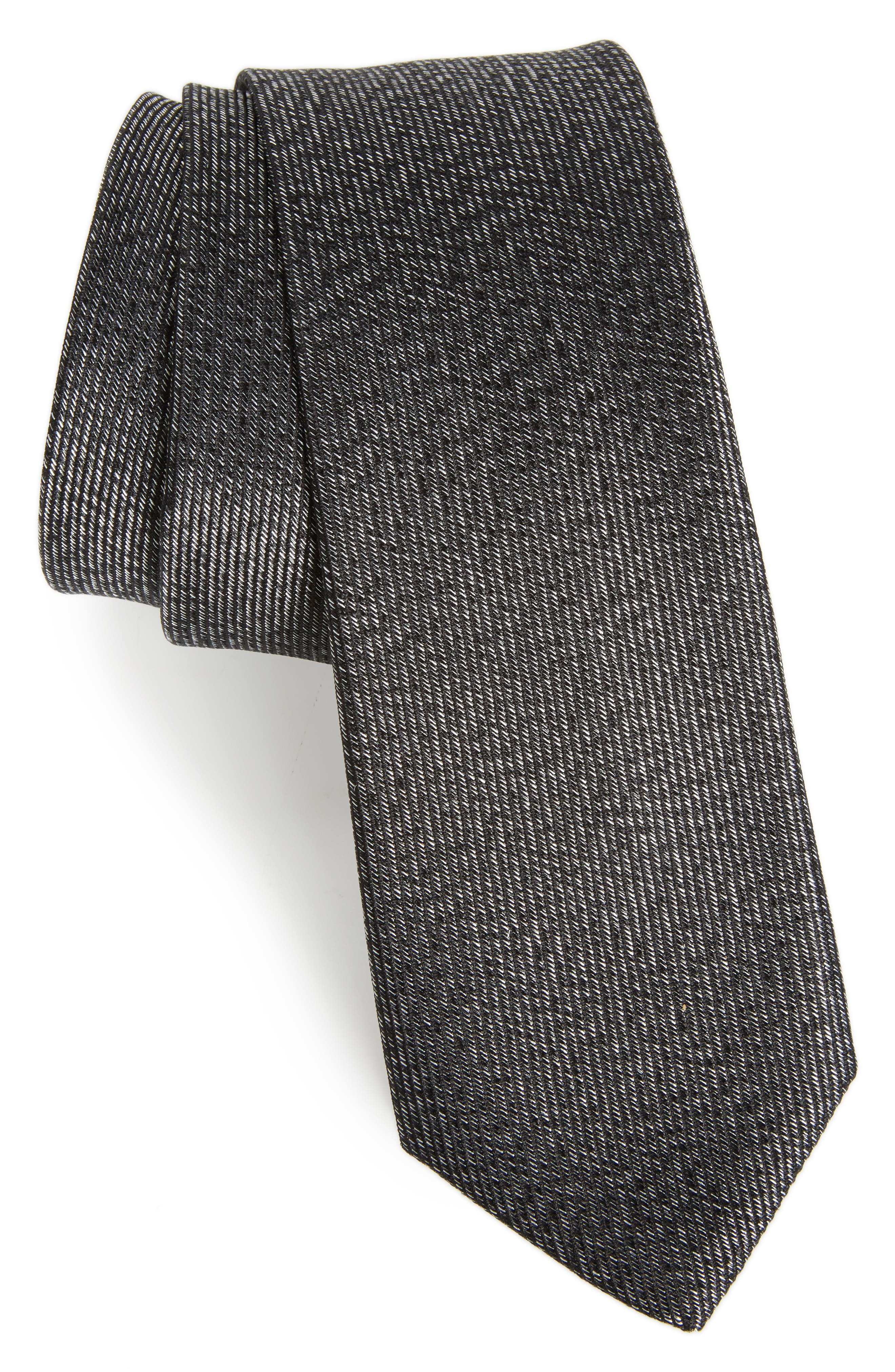 Alternate Image 1 Selected - Calibrate Heathered Solid Silk Tie