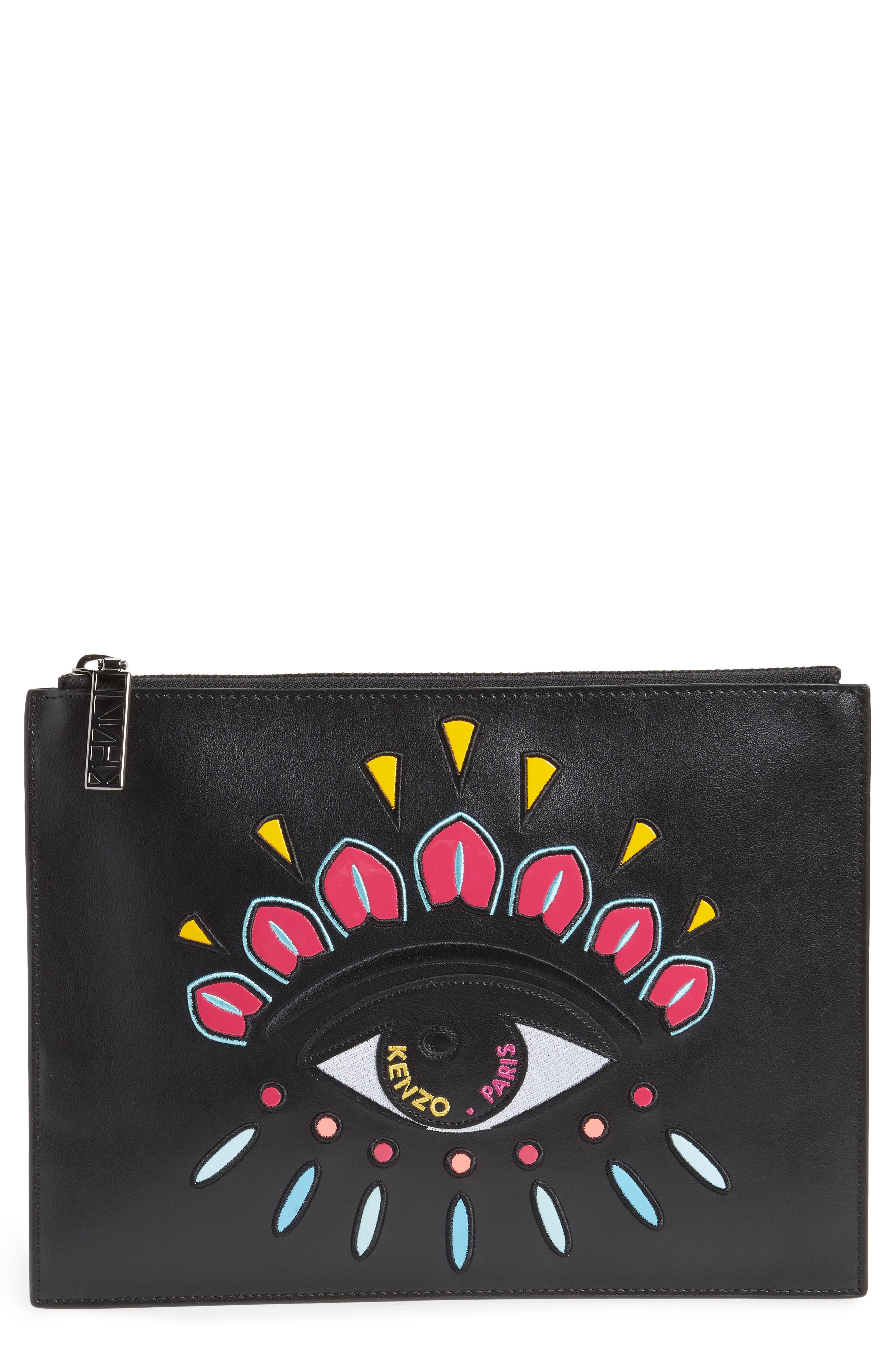 KENZO Icons Eye Leather Pouch