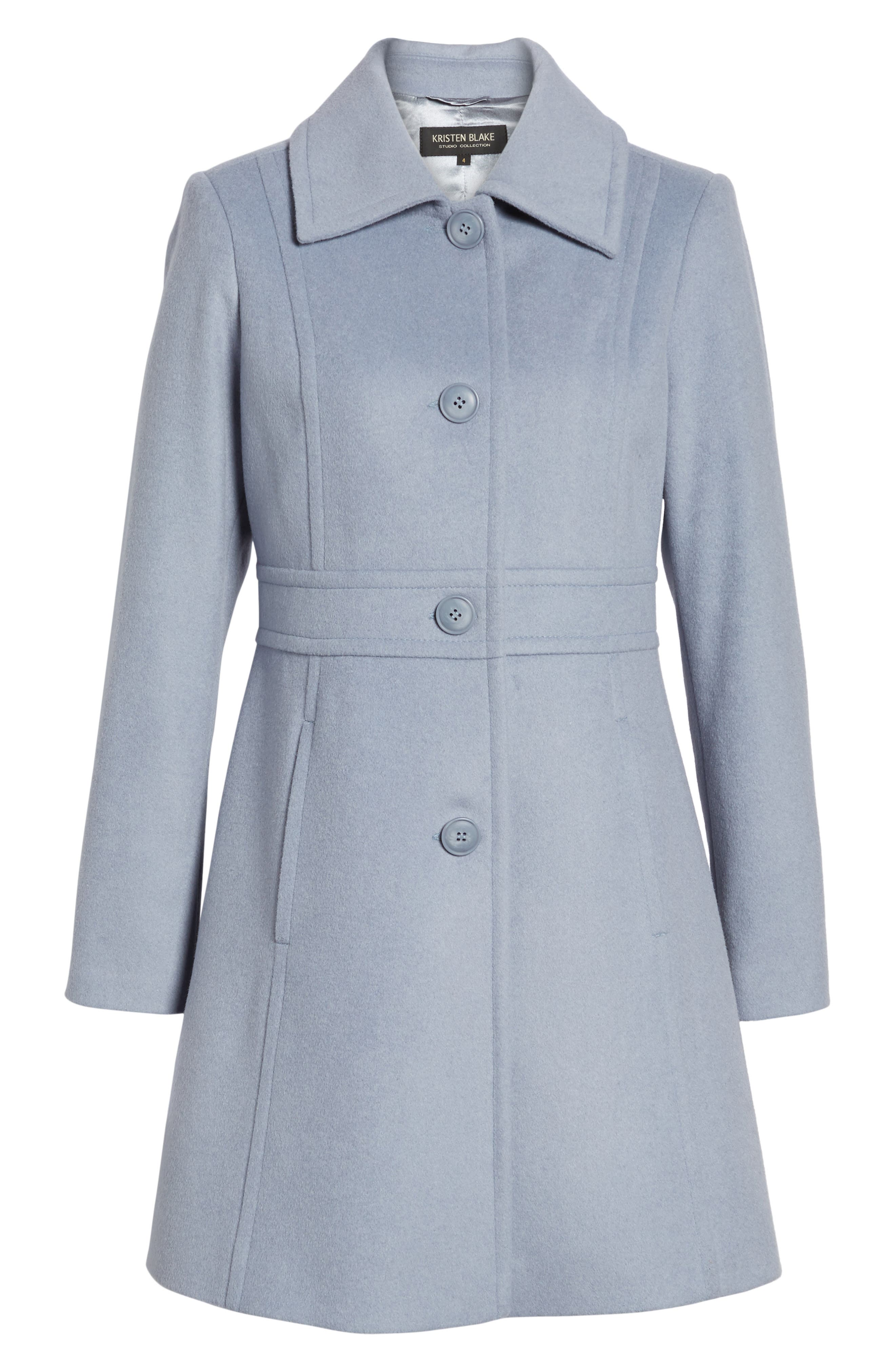 Alternate Image 6  - Kristen Blake Wool Blend Walking Coat (Regular & Petite)