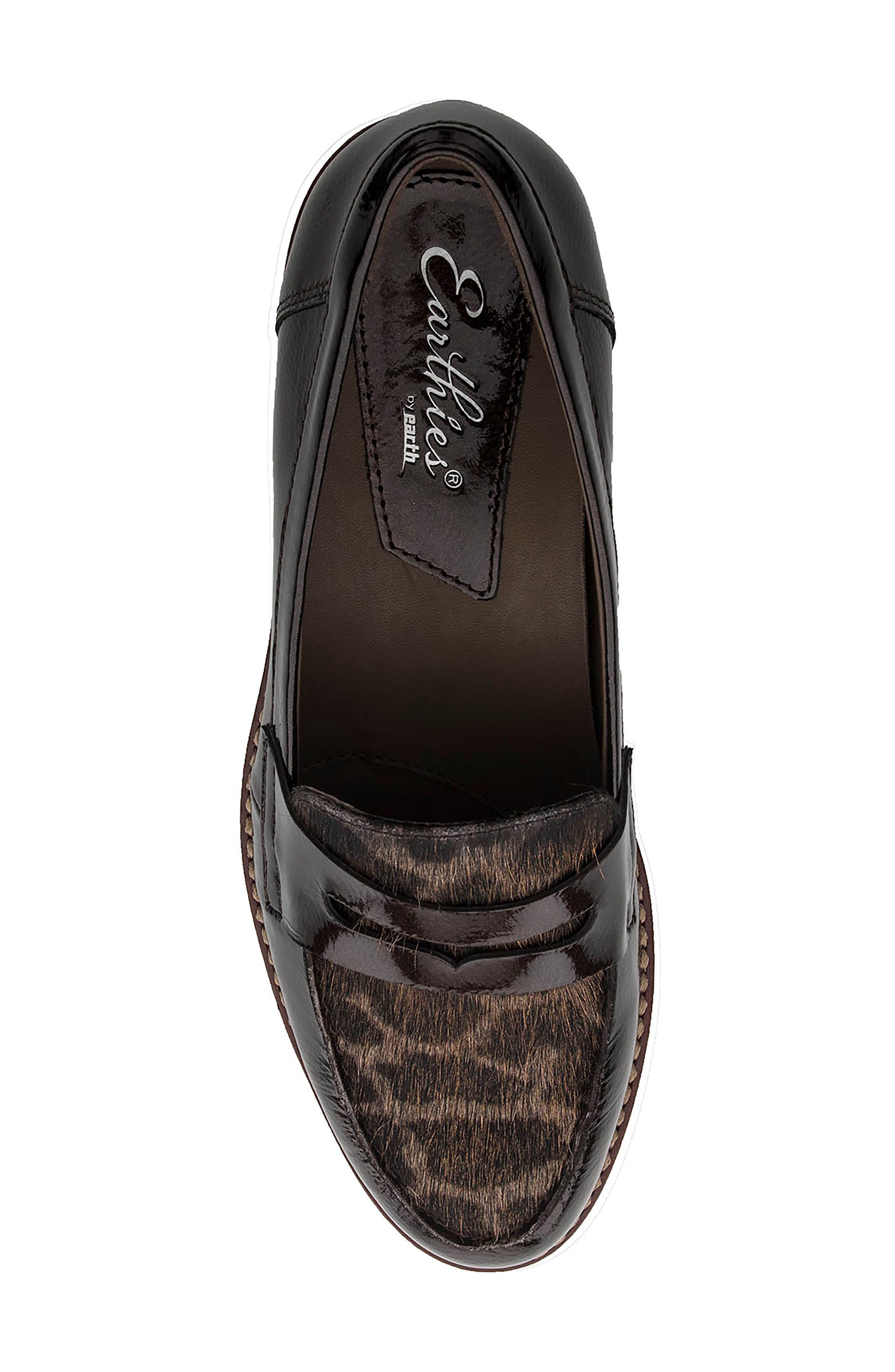 Alternate Image 5  - Earthies Braga Leather & Genuine Calf Hair Loafer (Women)
