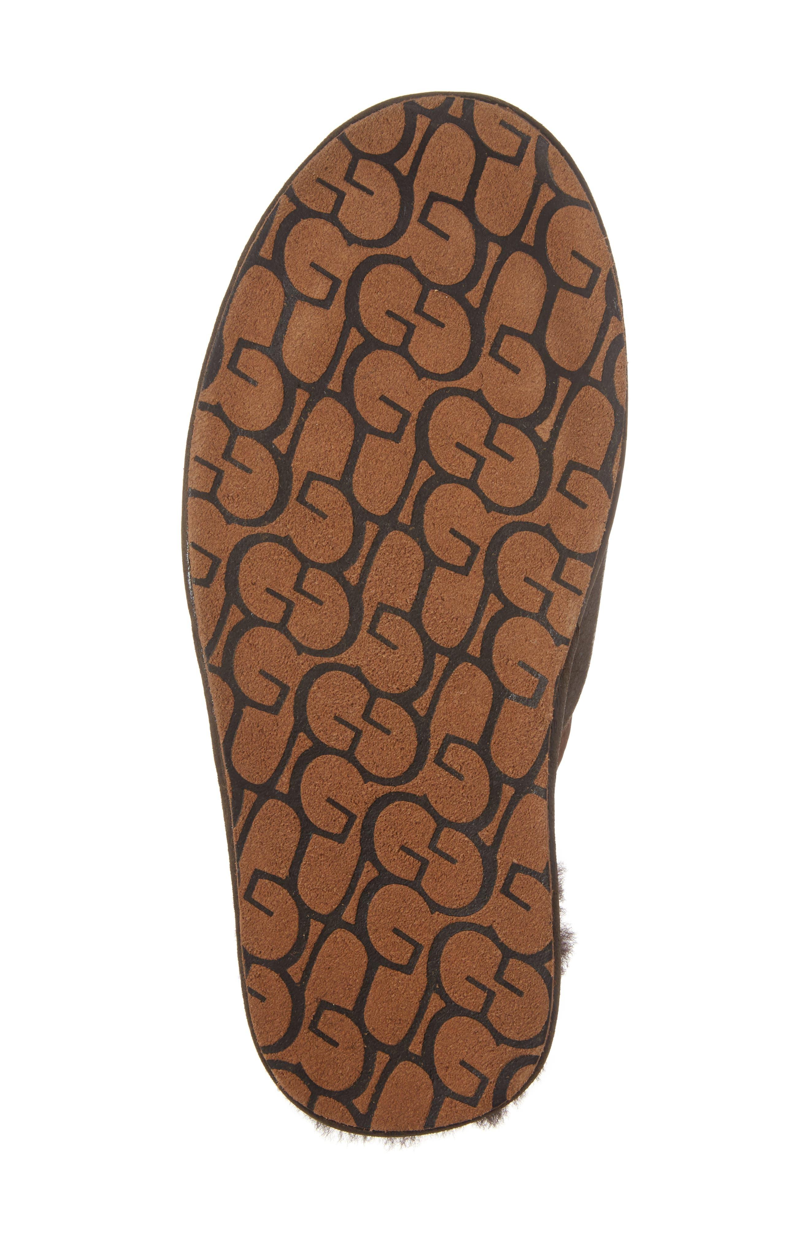 Scuff - Deco Genuine Shearling Slipper,                             Alternate thumbnail 6, color,                             Stout