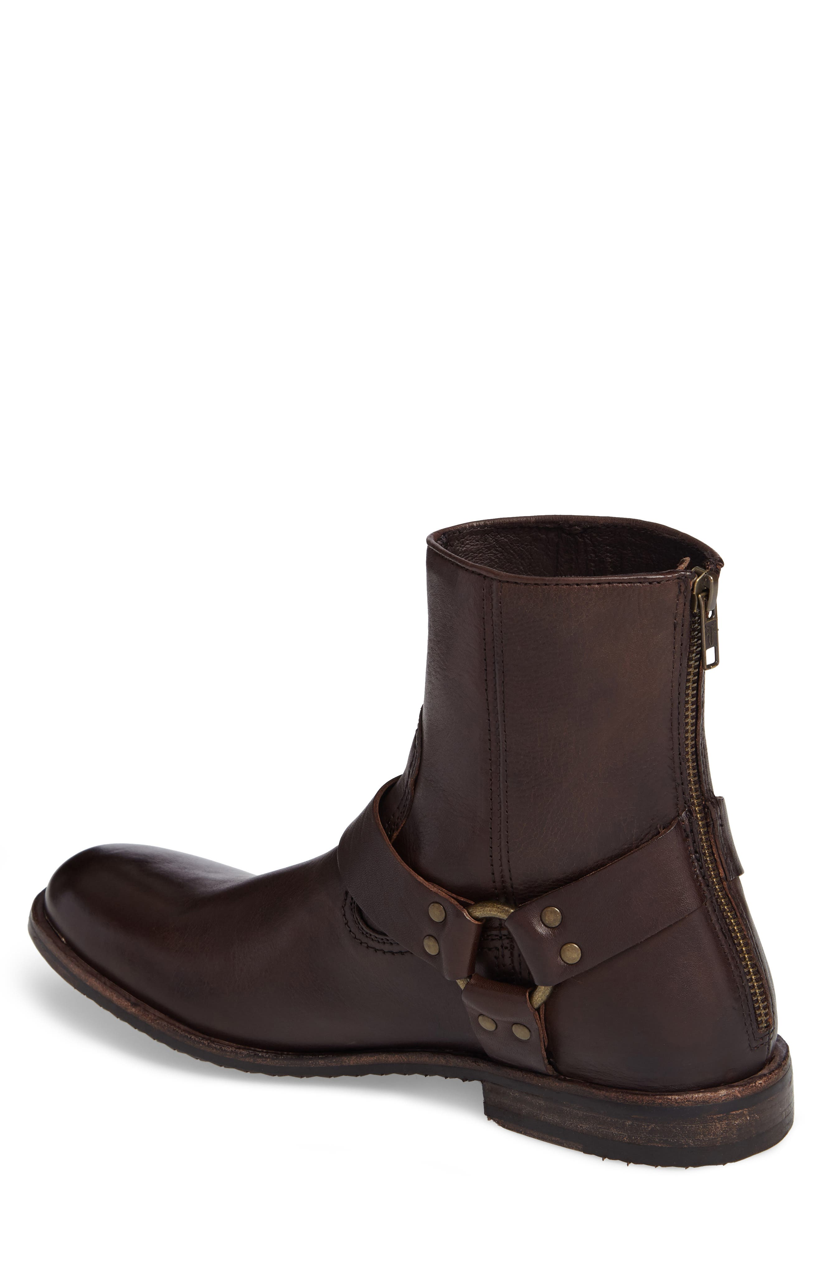 Sam Harness Boot,                             Alternate thumbnail 2, color,                             Dark Brown Leather