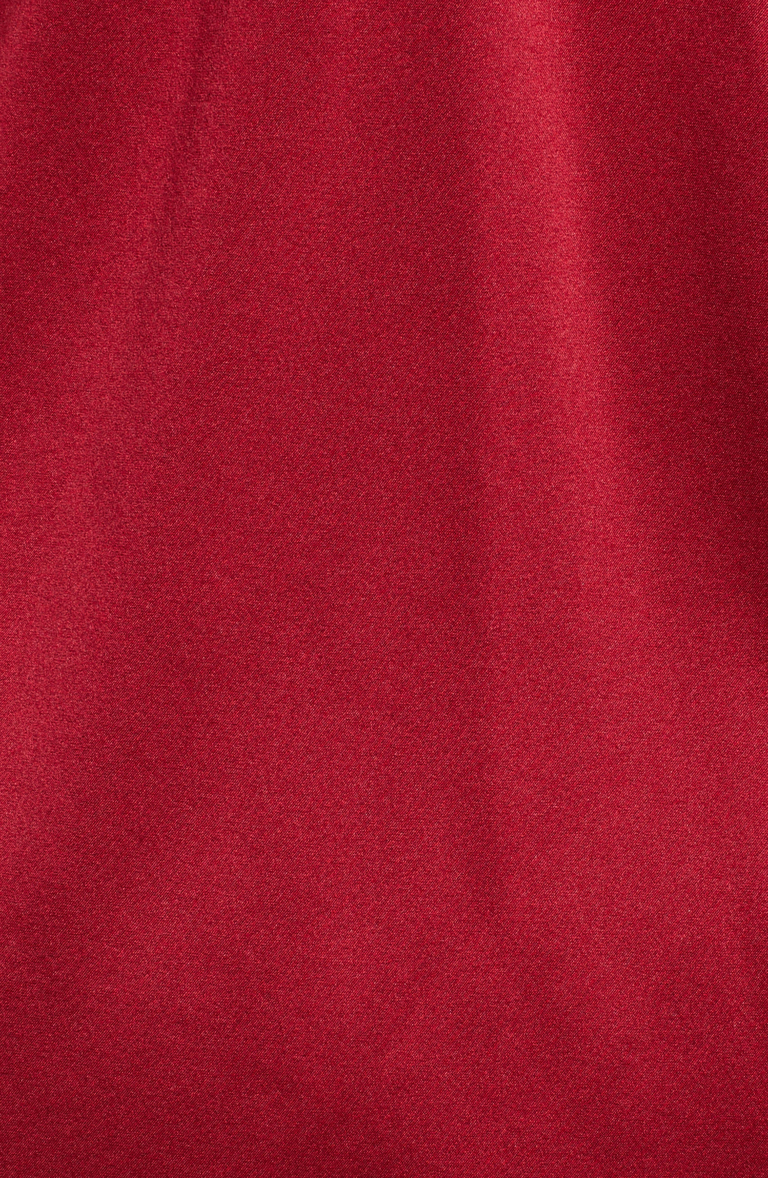 Ophelie Stretch Silk Blouse,                             Alternate thumbnail 5, color,                             Cayenne
