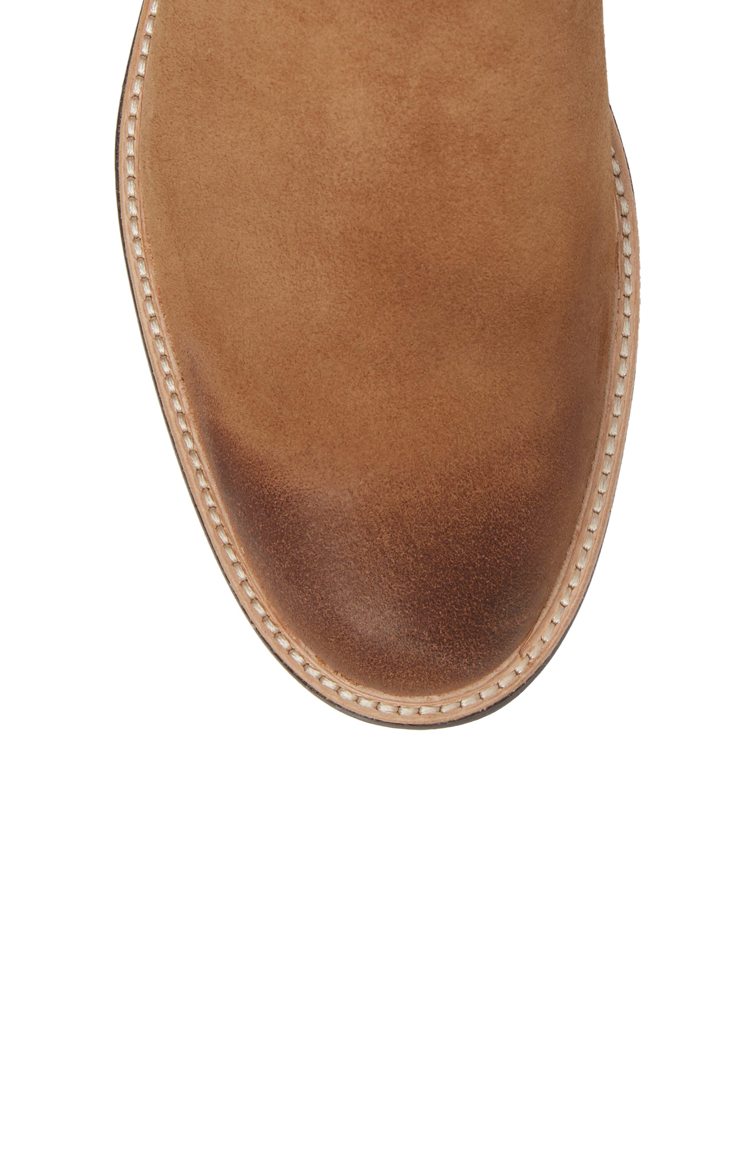 Baldvin Chelsea Boot,                             Alternate thumbnail 5, color,                             Chestnut