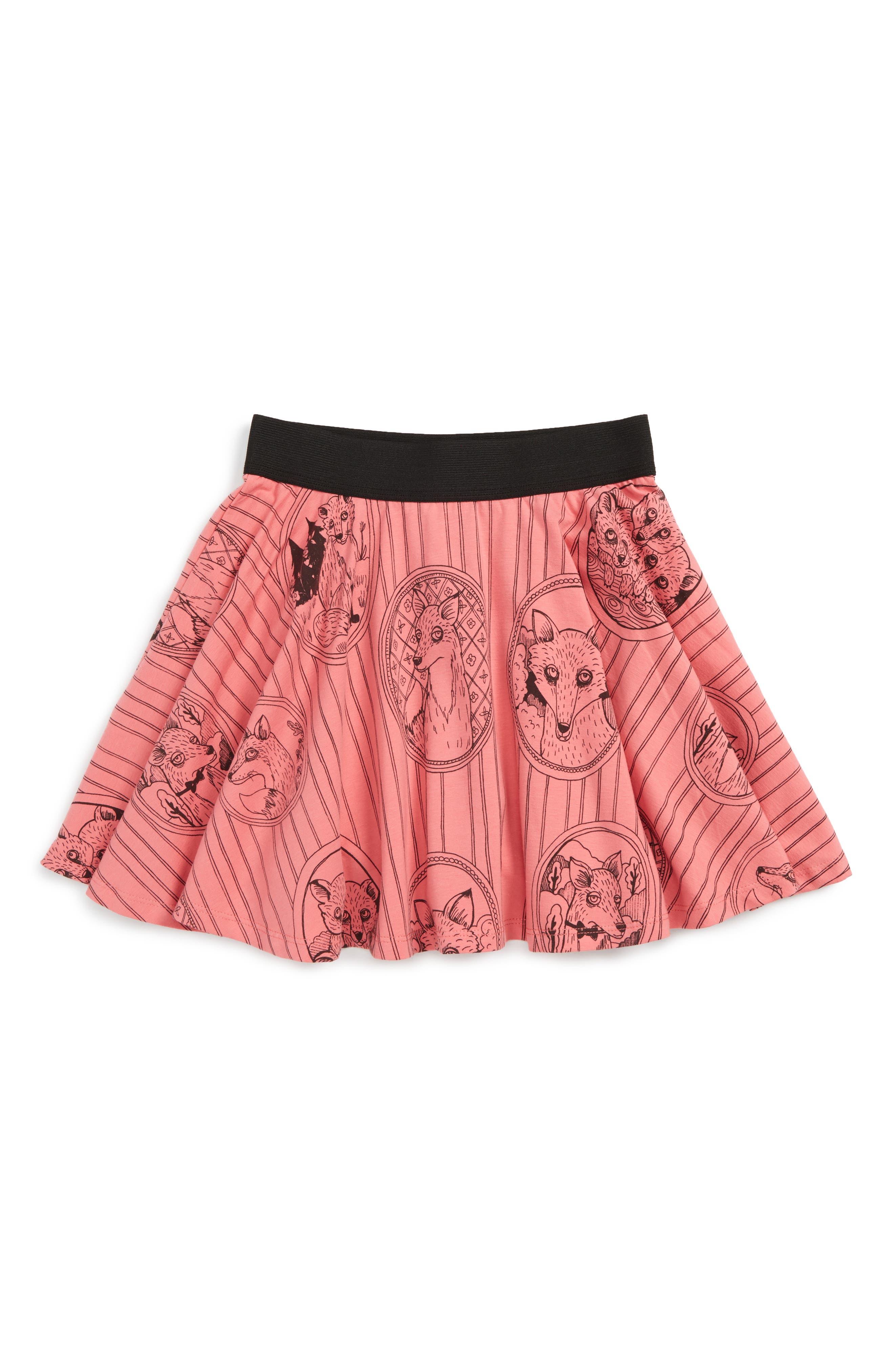 Fox Family Skirt,                         Main,                         color, Pink