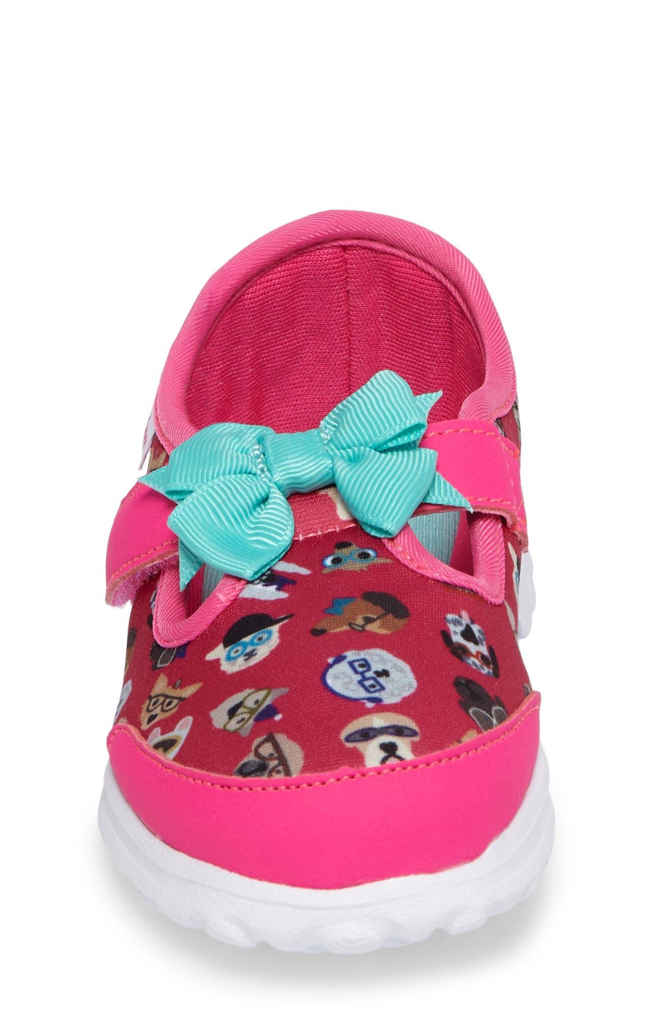 Alternate Image 4  - SKECHERS Go Walk Bow Wow Sneaker (Baby, Walker & Toddler)