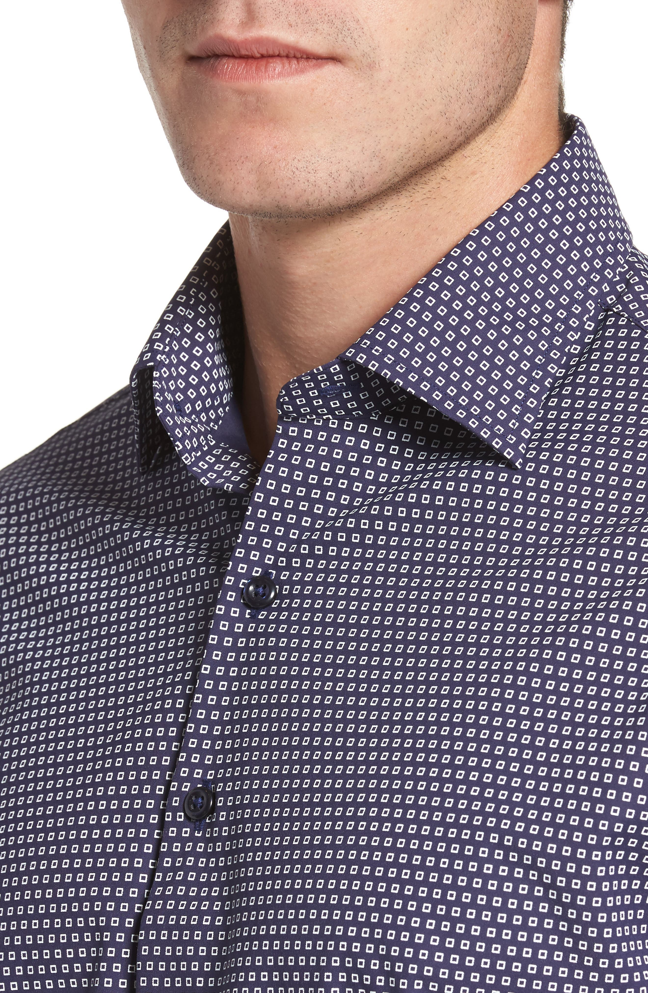 Alternate Image 4  - Peter Millar Chex Regular Fit Performance Sport Shirt