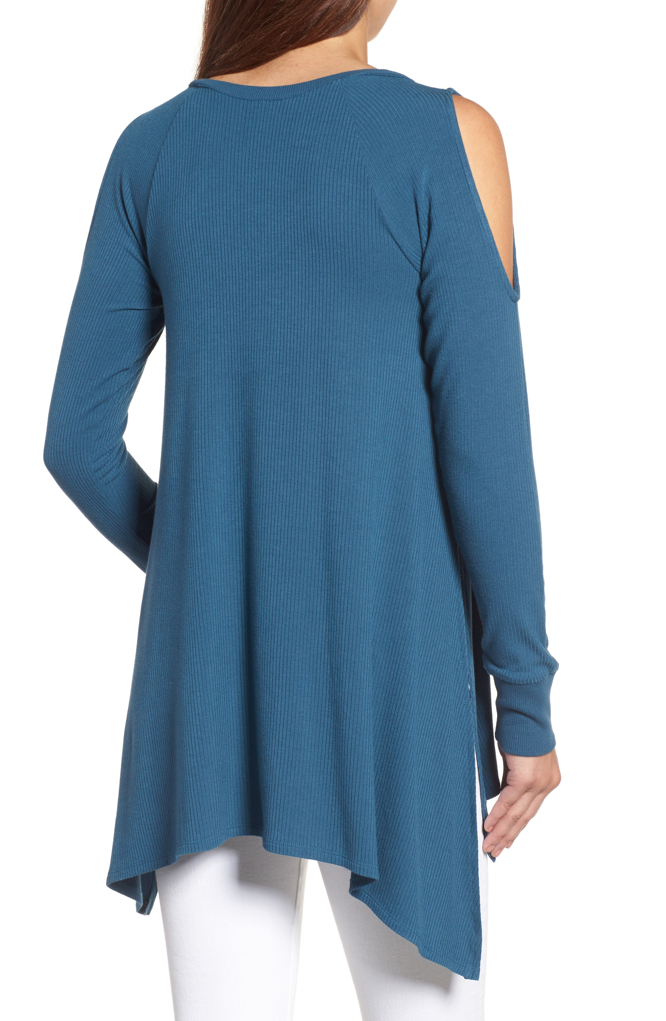 Alternate Image 2  - Caslon® Cold Shoulder Tunic