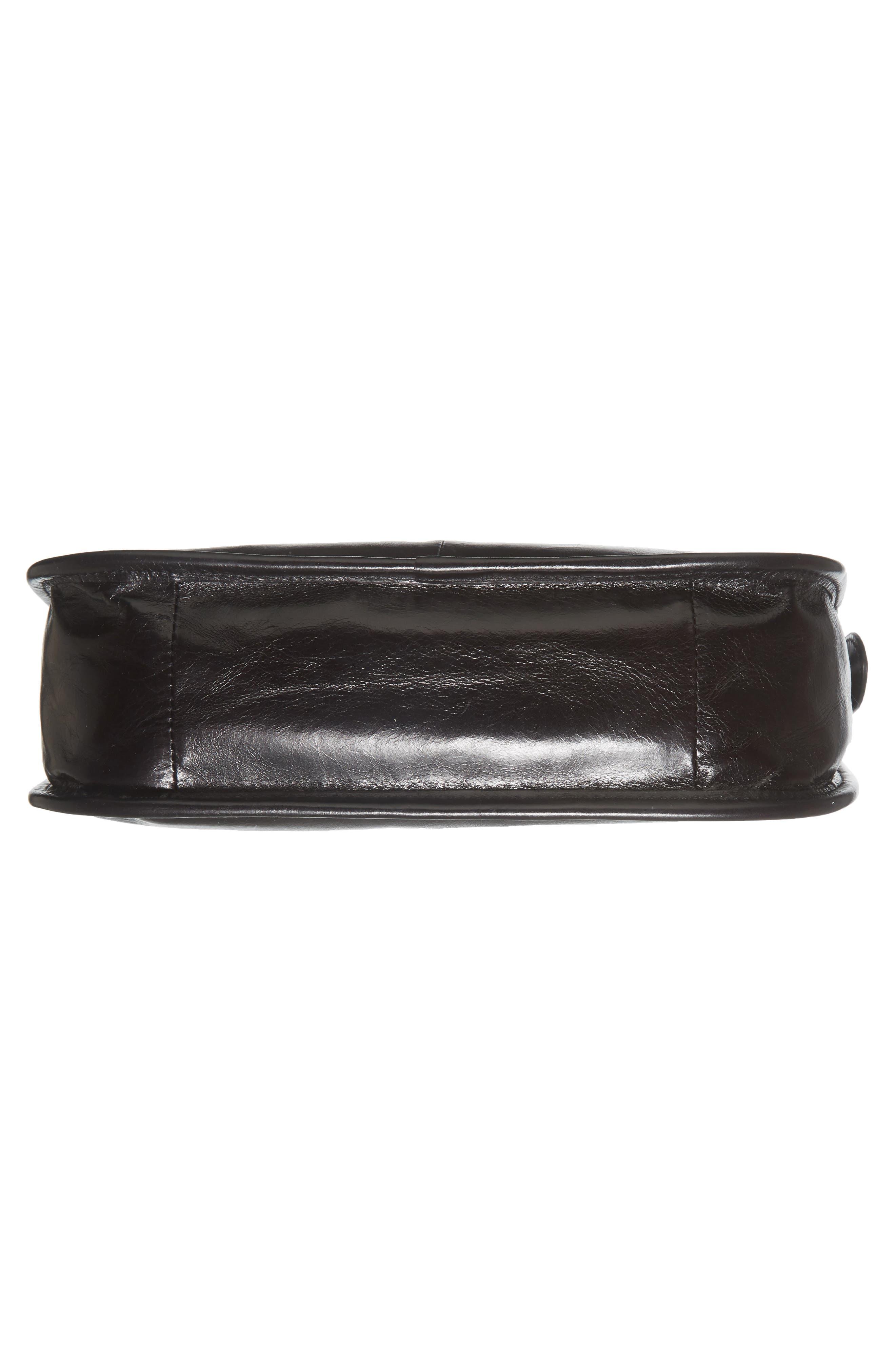 Chase Calfskin Leather Crossbody Bag,                             Alternate thumbnail 5, color,                             Black