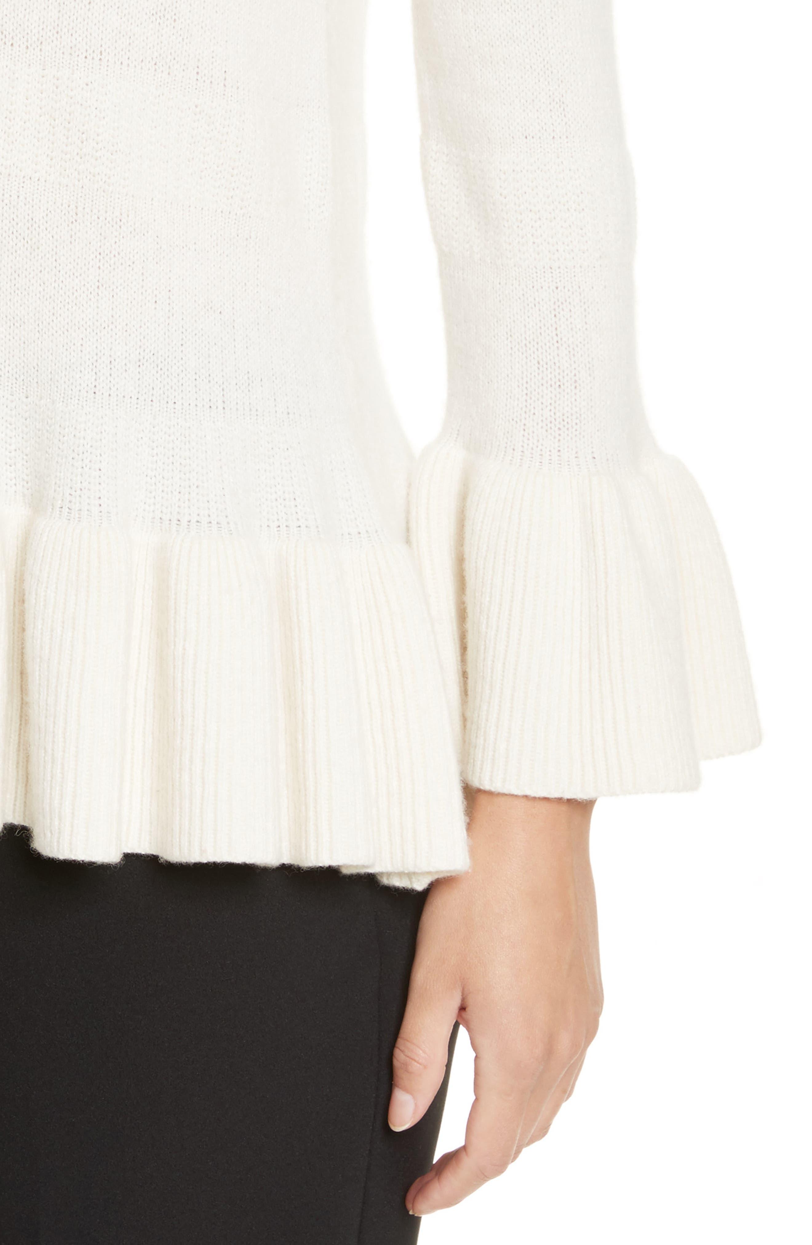 Alternate Image 4  - kate spade new york bell cuff textured sweater