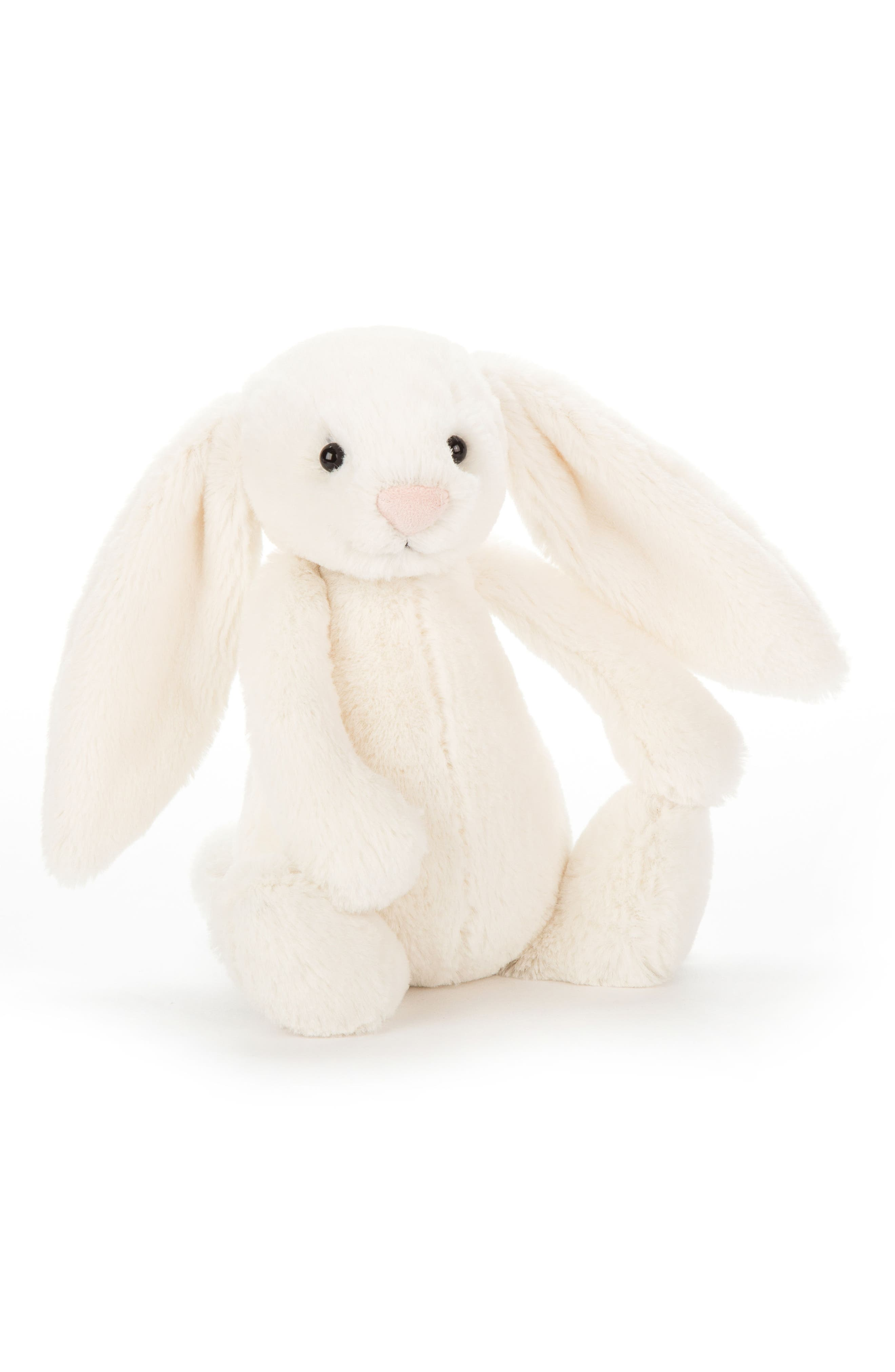 'Large Bashful Bunny' Stuffed Animal,                             Main thumbnail 1, color,                             Cream