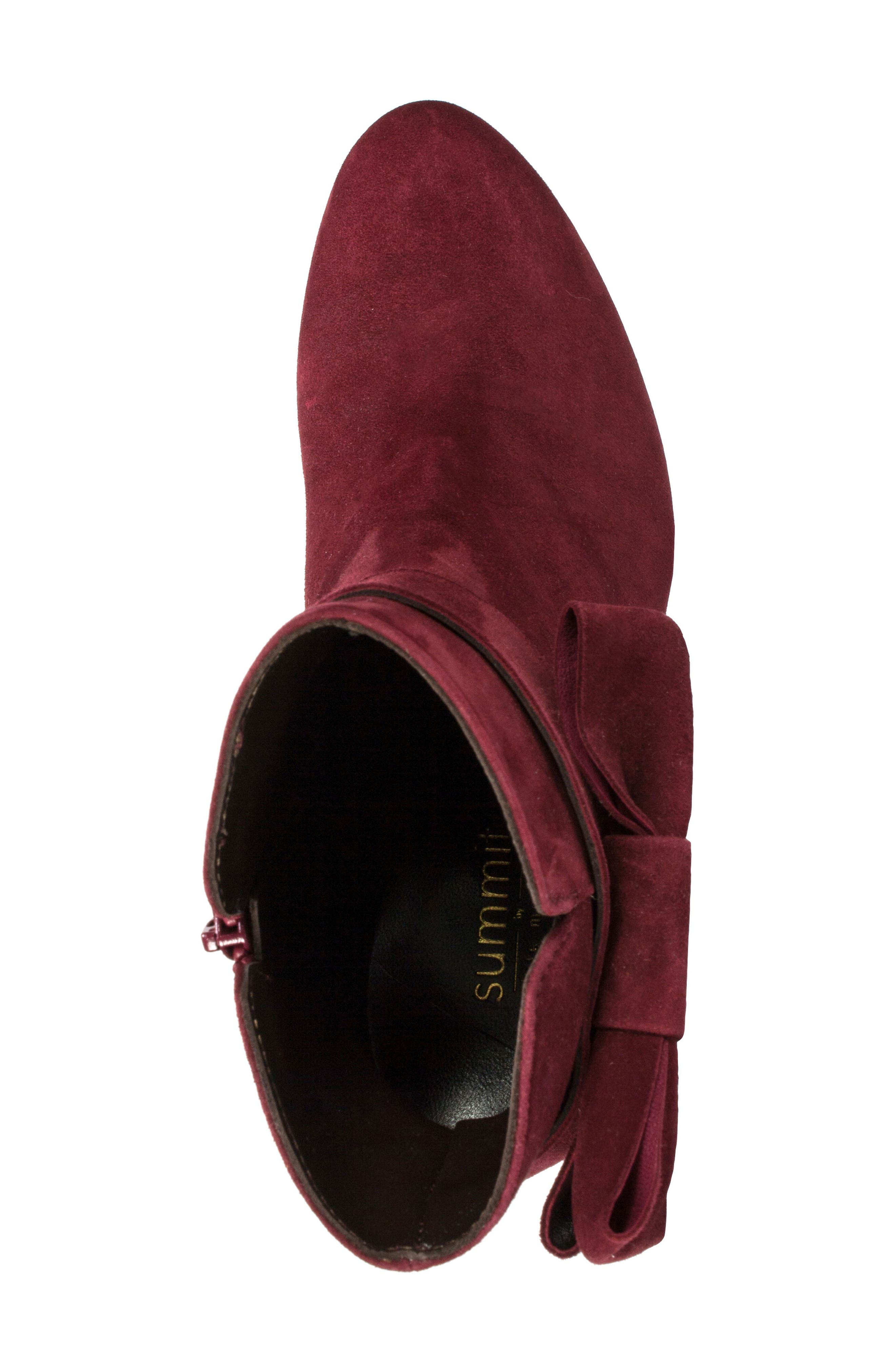 Stevie Bootie,                             Alternate thumbnail 5, color,                             Burgundy Suede
