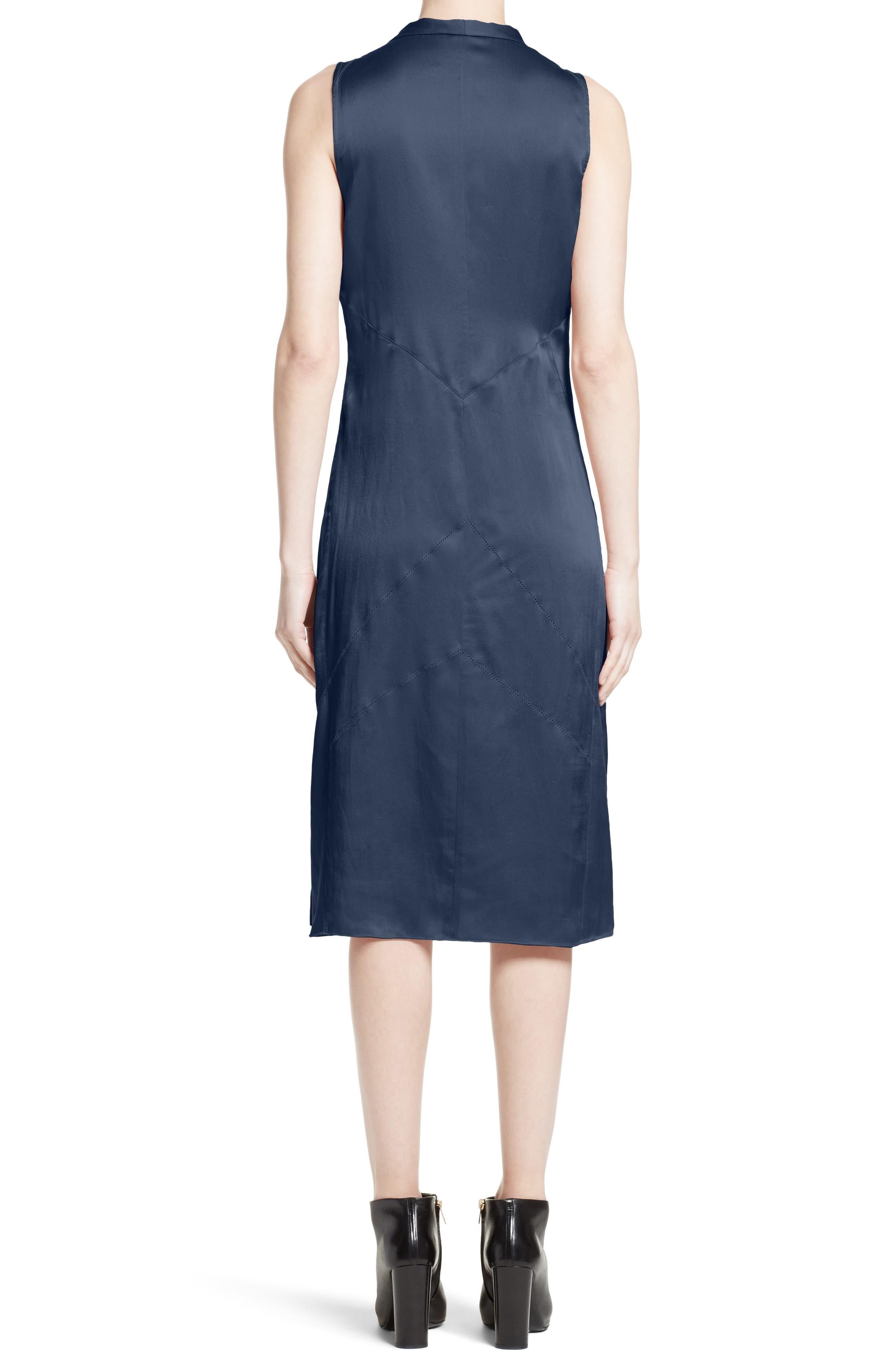 Alternate Image 2  - Burberry Cathy Tie Neck Silk Dress