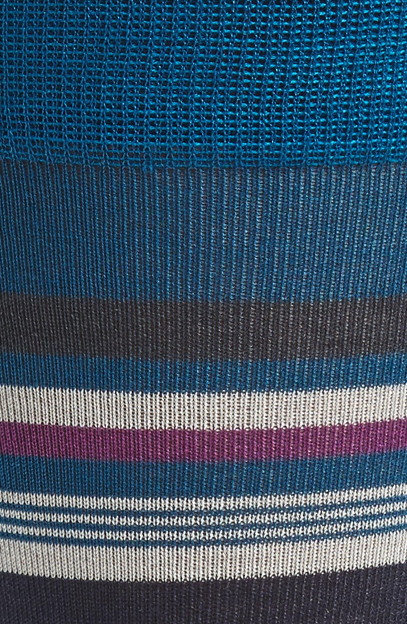 Stripe Socks,                             Alternate thumbnail 2, color,                             Teal Mosaic