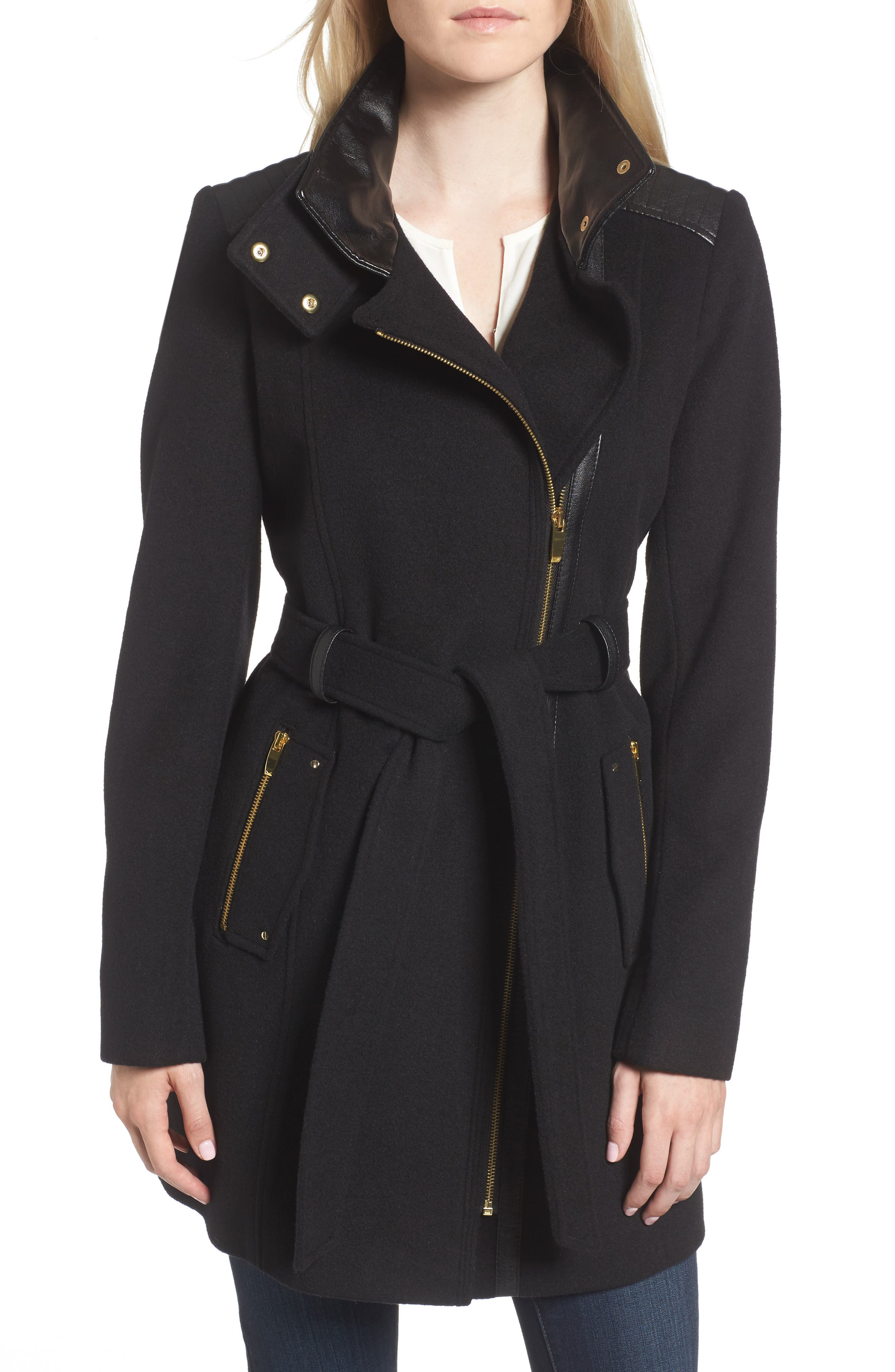 Alternate Image 1 Selected - Via Spiga Wool Blend Coat