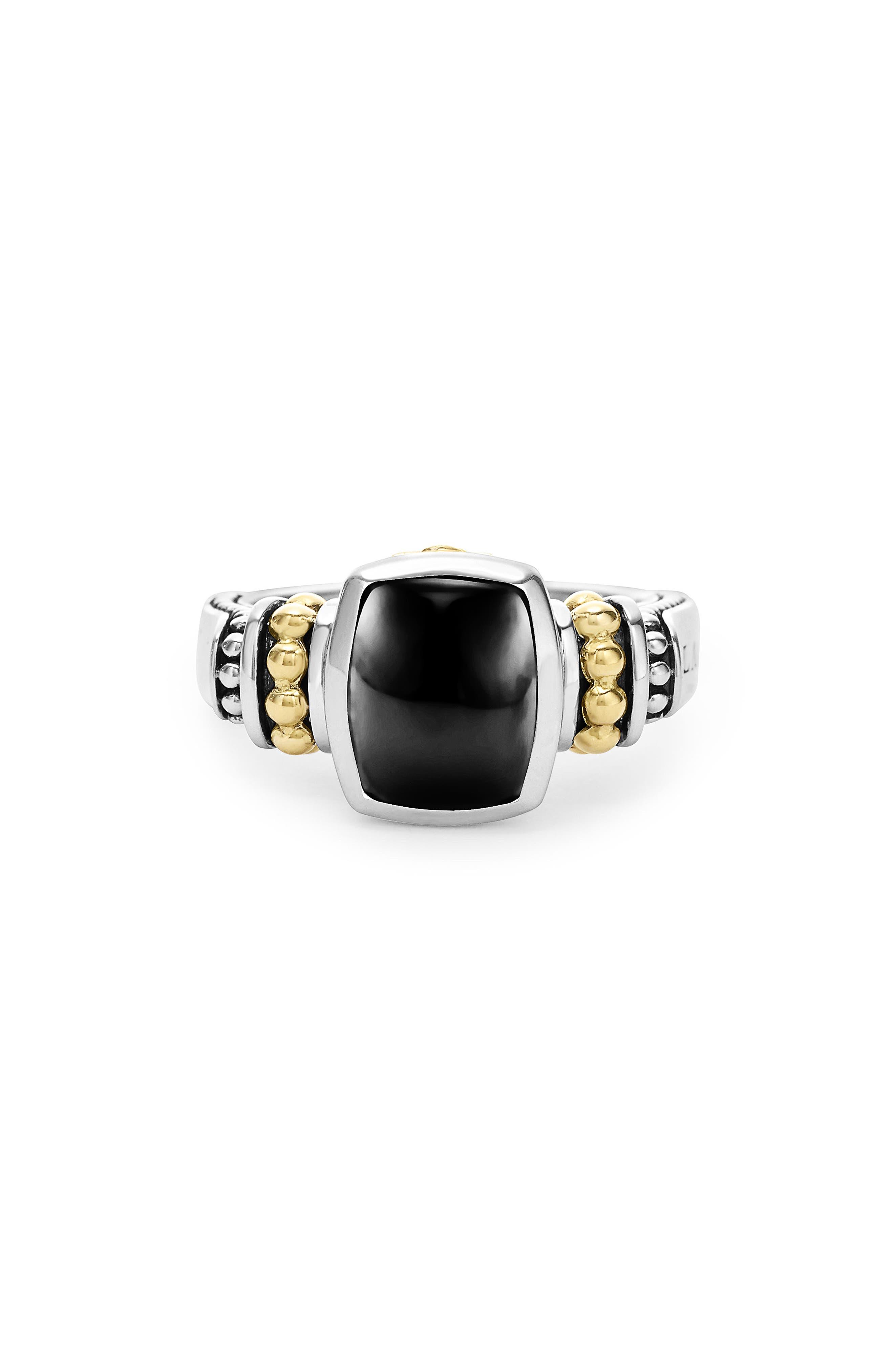 LAGOS 'Caviar Color' Small Semiprecious Stone Ring