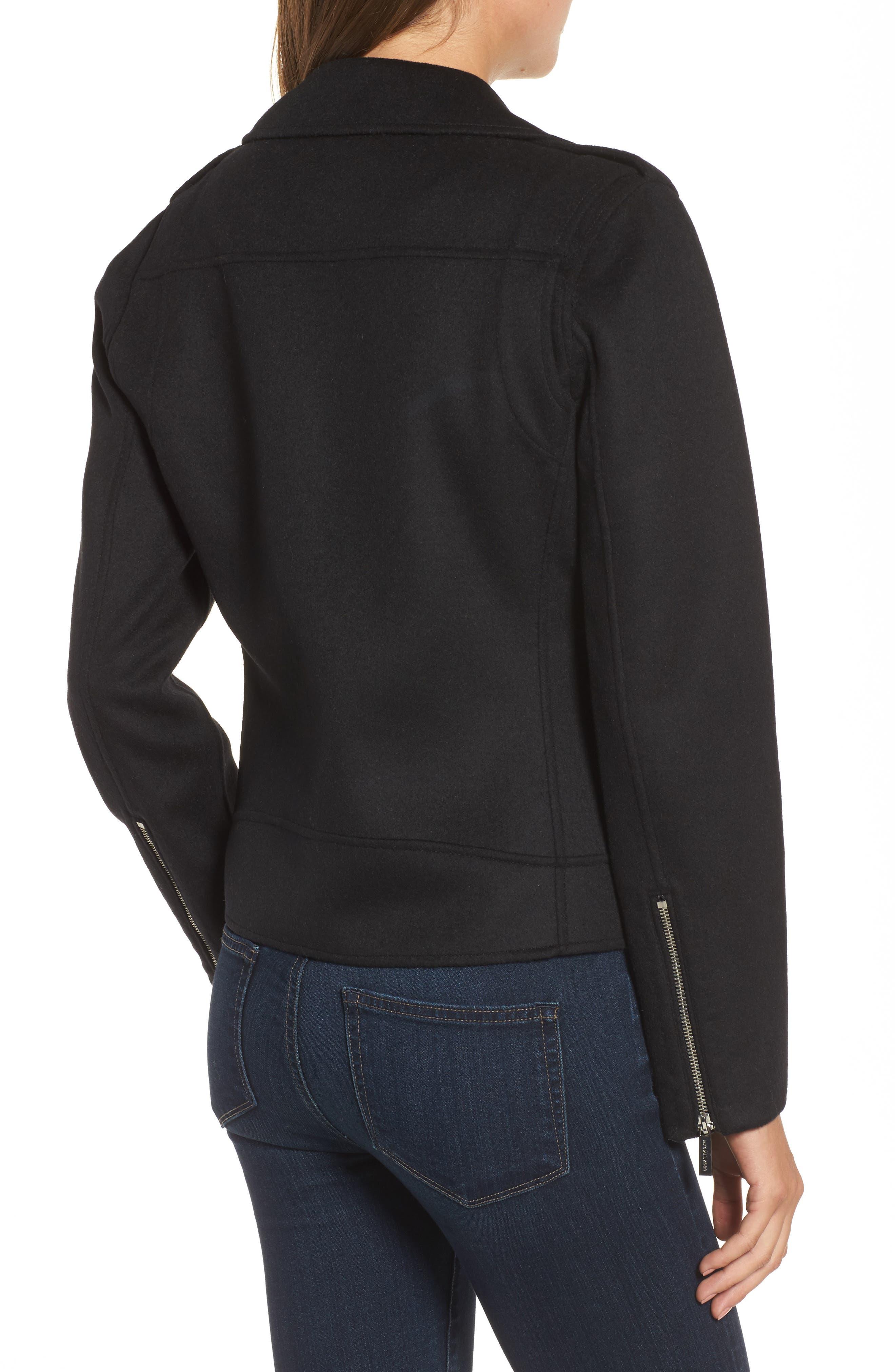 Alternate Image 2  - MICHAEL Michael Kors Wool Blend Moto Jacket (Regular & Petite)